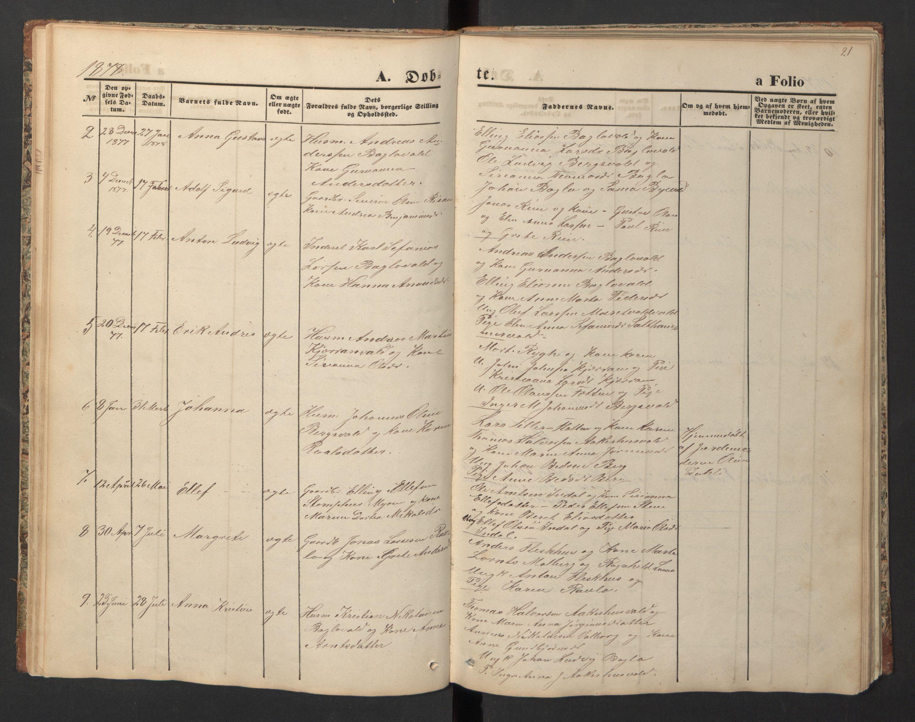 SAT, Ministerialprotokoller, klokkerbøker og fødselsregistre - Nord-Trøndelag, 726/L0271: Klokkerbok nr. 726C02, 1869-1897, s. 21