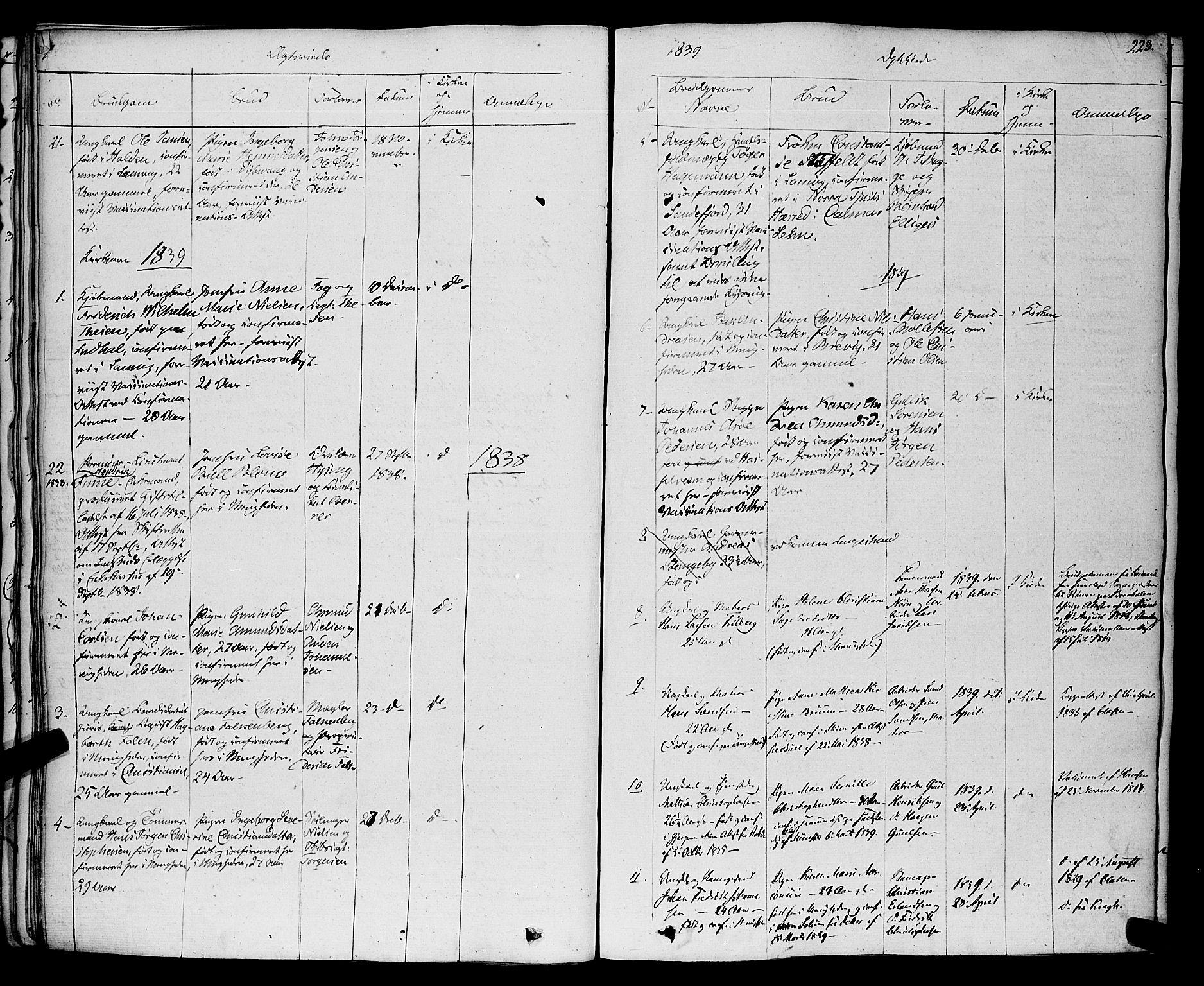 SAKO, Larvik kirkebøker, F/Fa/L0002: Ministerialbok nr. I 2, 1825-1847, s. 223