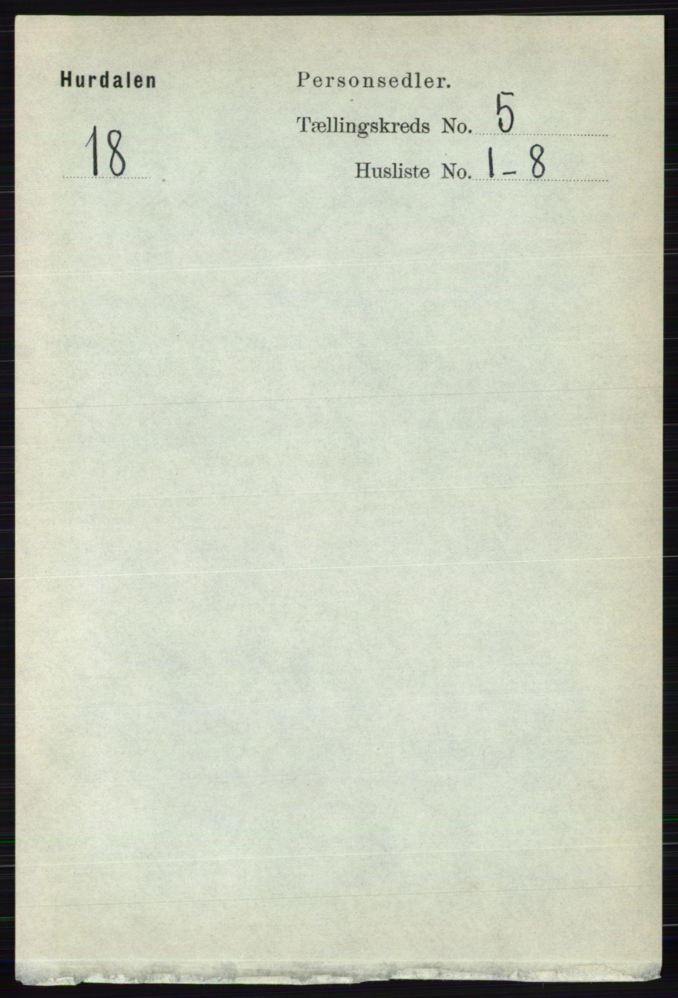 RA, Folketelling 1891 for 0239 Hurdal herred, 1891, s. 2016