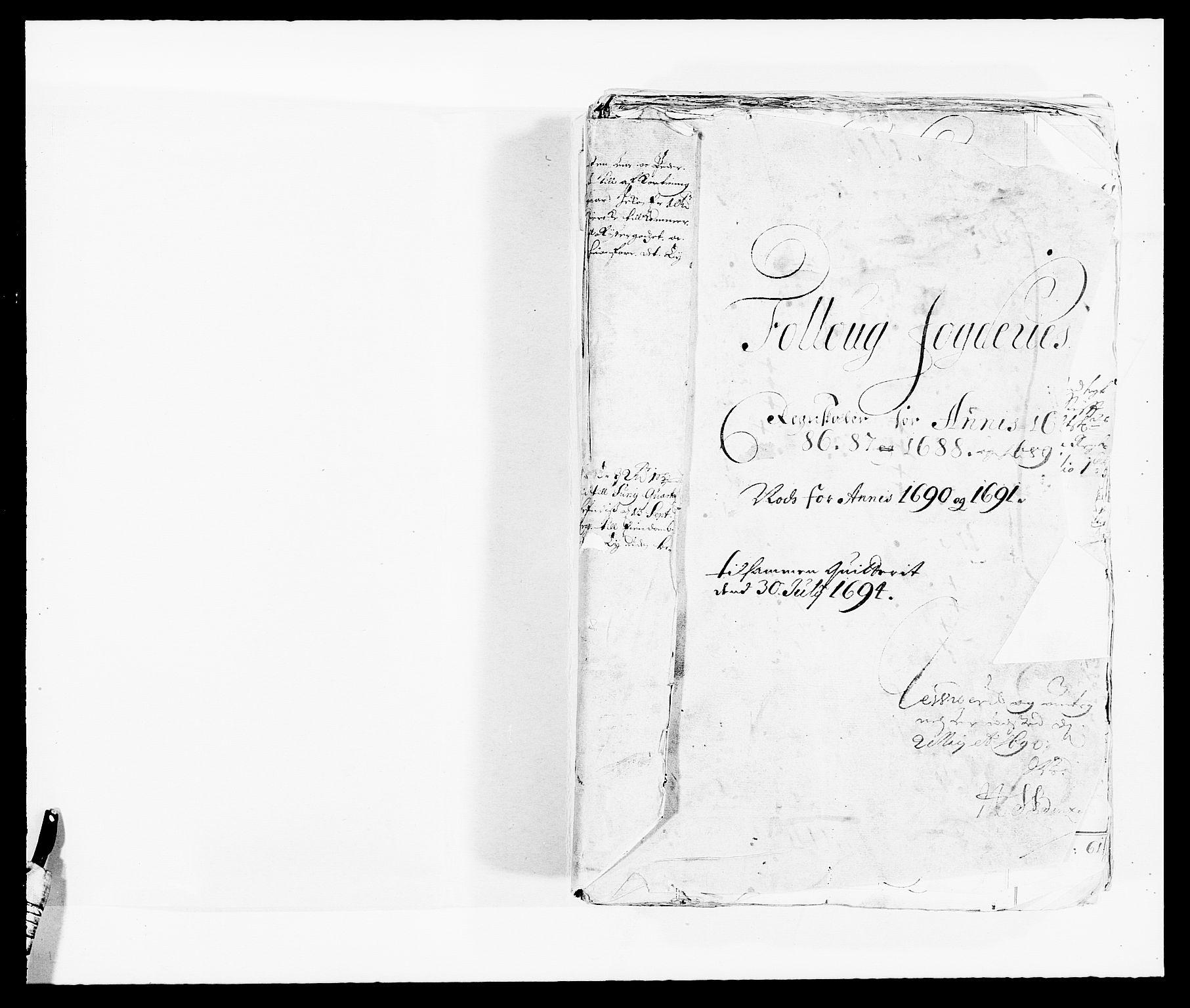 RA, Rentekammeret inntil 1814, Reviderte regnskaper, Fogderegnskap, R09/L0436: Fogderegnskap Follo, 1685-1691, s. 2