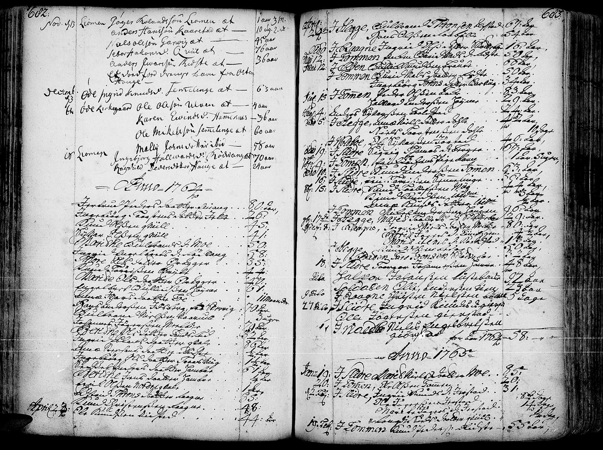 SAH, Slidre prestekontor, Ministerialbok nr. 1, 1724-1814, s. 682-683
