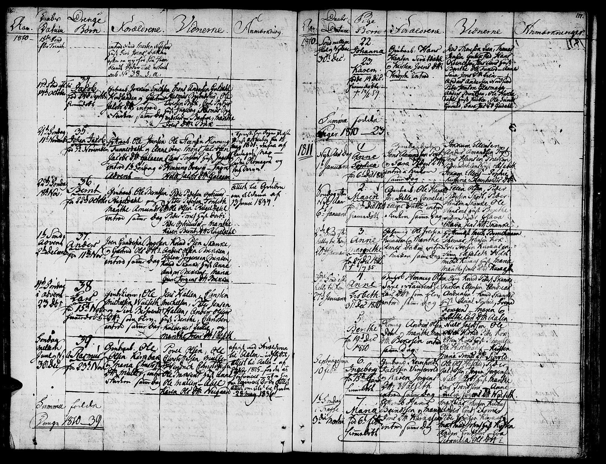 SAT, Ministerialprotokoller, klokkerbøker og fødselsregistre - Sør-Trøndelag, 681/L0928: Ministerialbok nr. 681A06, 1806-1816, s. 116-117