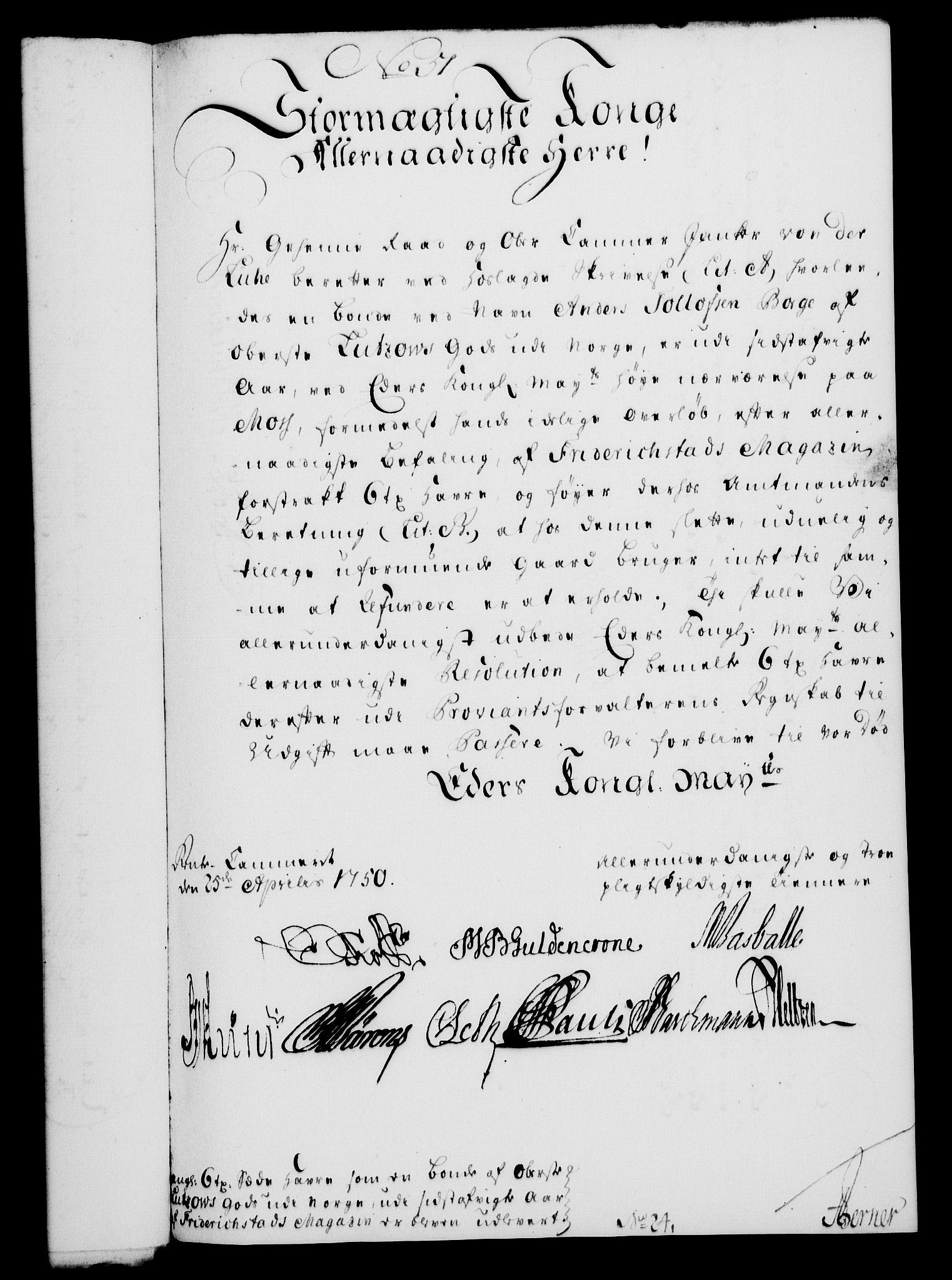 RA, Rentekammeret, Kammerkanselliet, G/Gf/Gfa/L0032: Norsk relasjons- og resolusjonsprotokoll (merket RK 52.32), 1750, s. 218