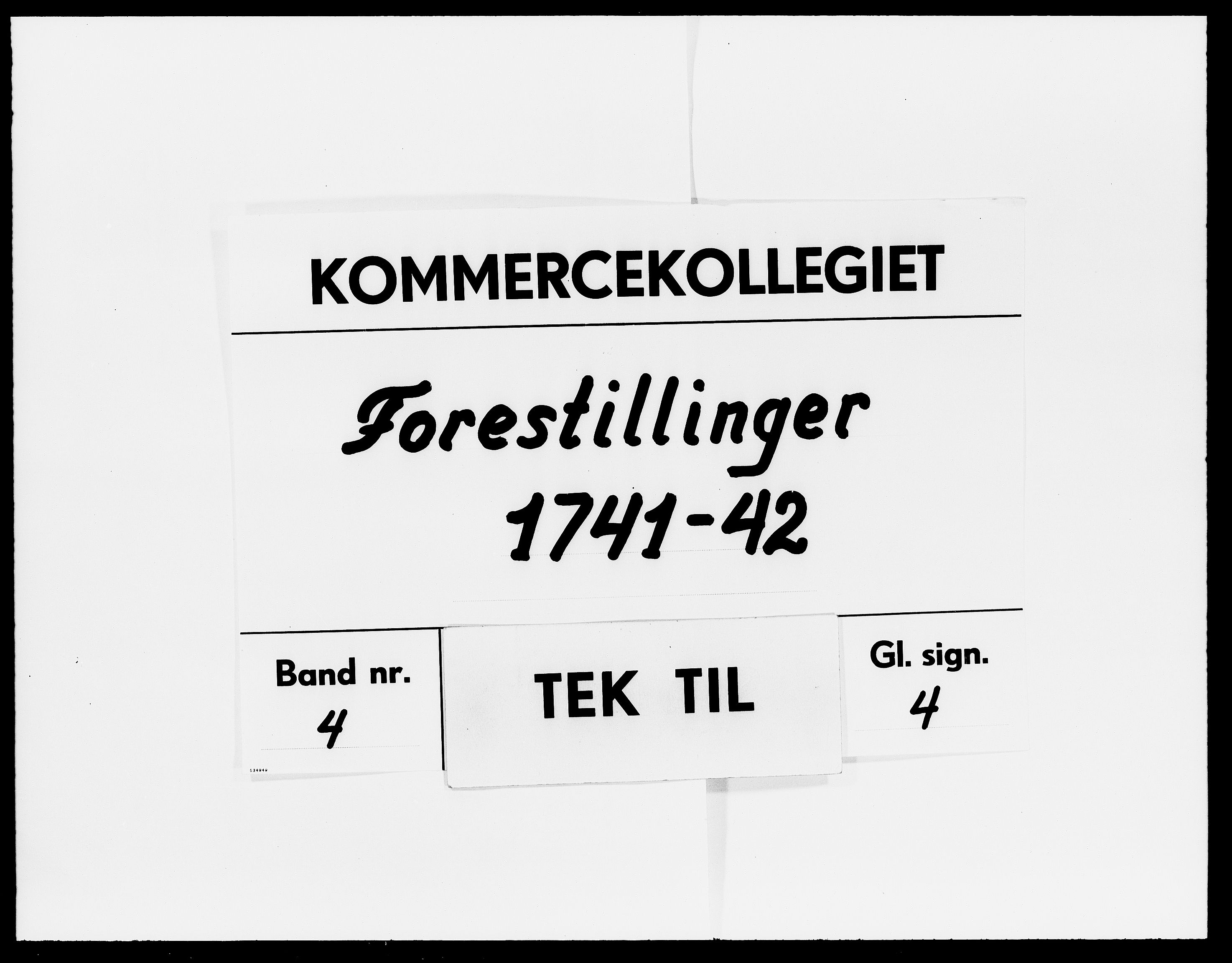 DRA, Kommercekollegiet, Dansk-Norske Sekretariat (1736-1771) / Kommercedeputationen (1771-1773), -/004: Forestillinger, 1741-1742