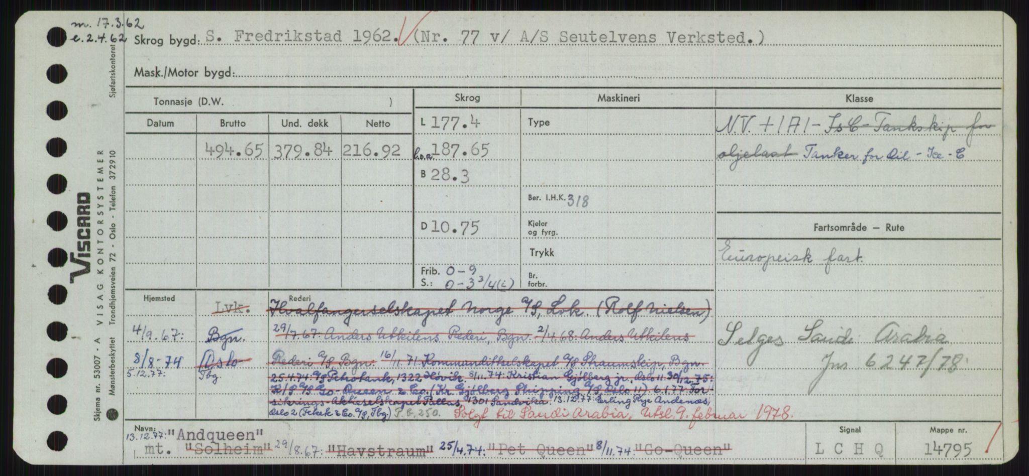 RA, Sjøfartsdirektoratet med forløpere, Skipsmålingen, H/Hd/L0001: Fartøy, A-Anv, s. 559