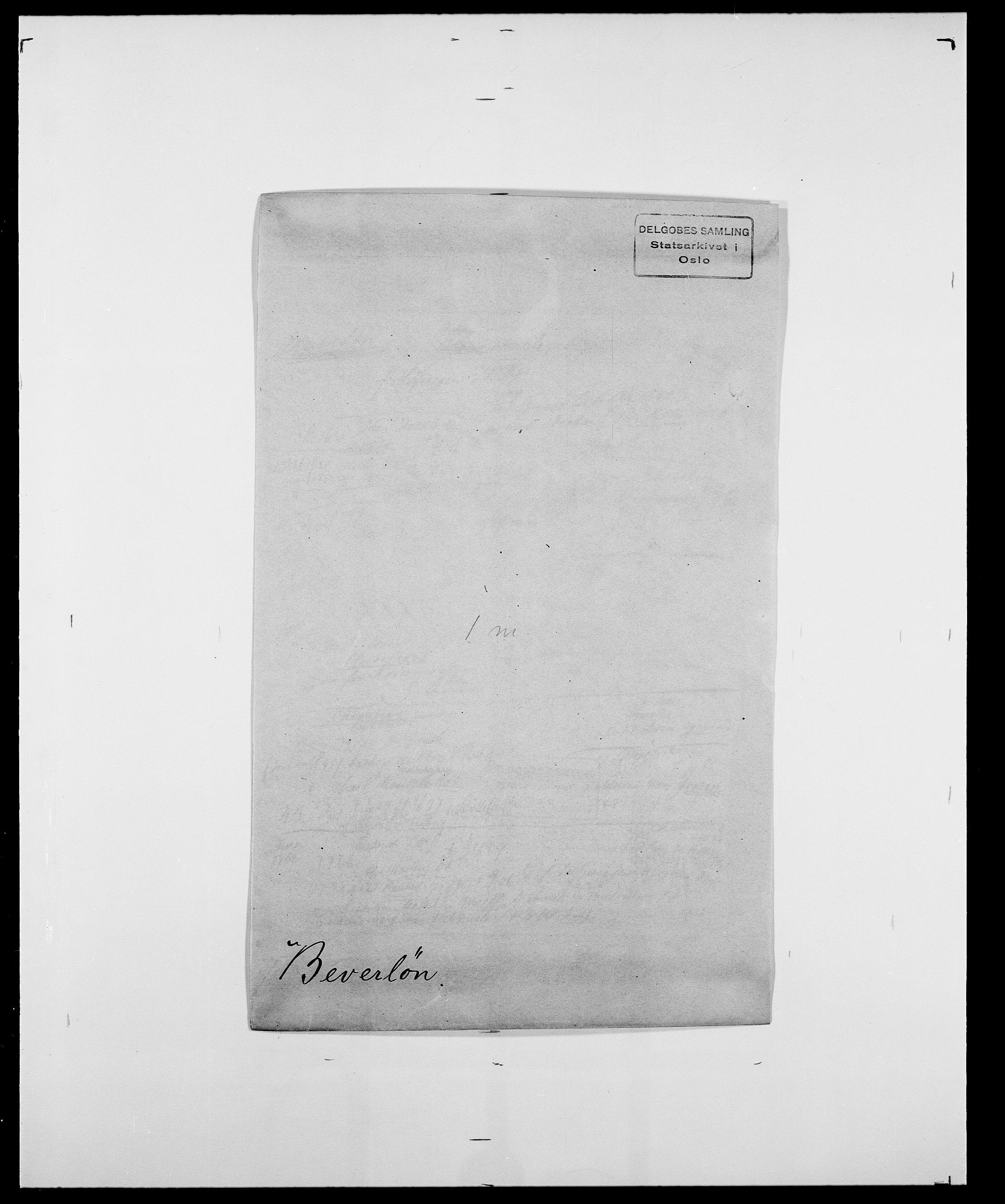 SAO, Delgobe, Charles Antoine - samling, D/Da/L0004: Bergendahl - Blære, s. 151
