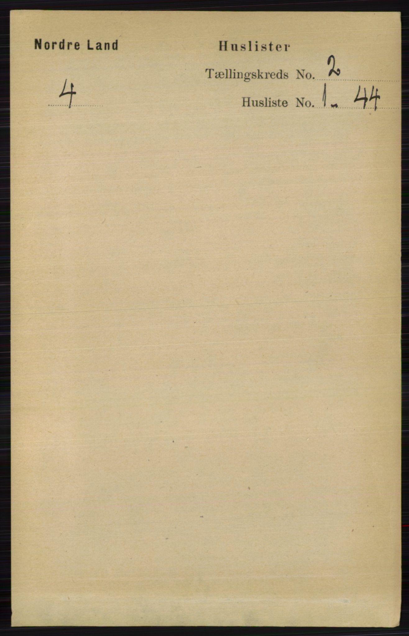 RA, Folketelling 1891 for 0538 Nordre Land herred, 1891, s. 530