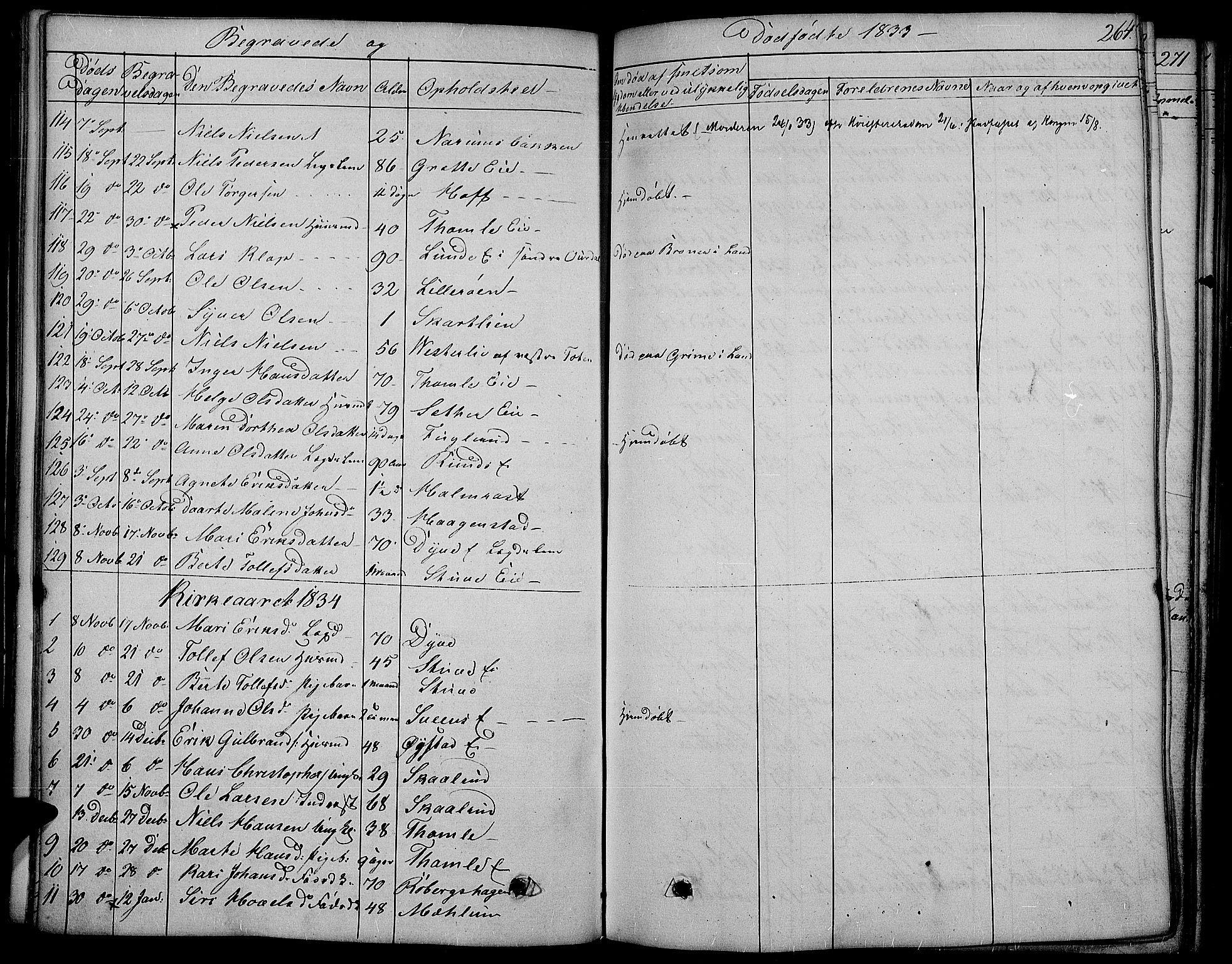 SAH, Land prestekontor, Ministerialbok nr. 8, 1830-1846, s. 264