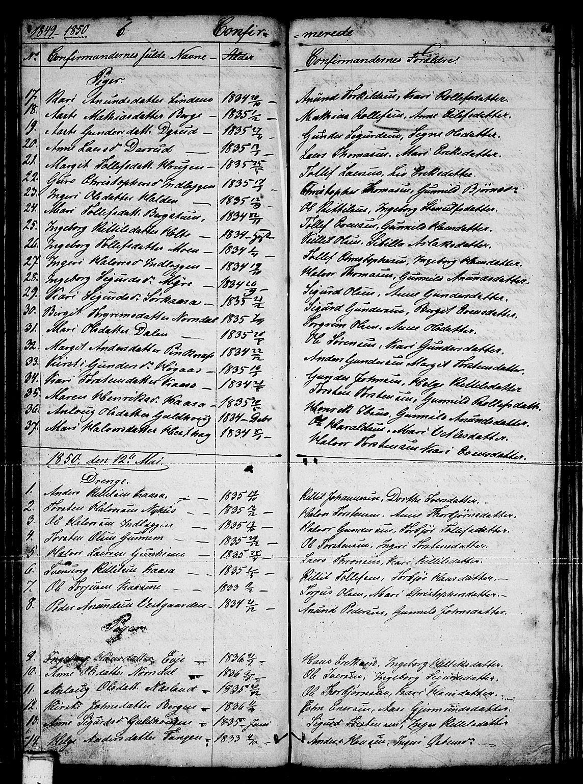 SAKO, Sauherad kirkebøker, G/Gb/L0001: Klokkerbok nr. II 1, 1845-1865, s. 61