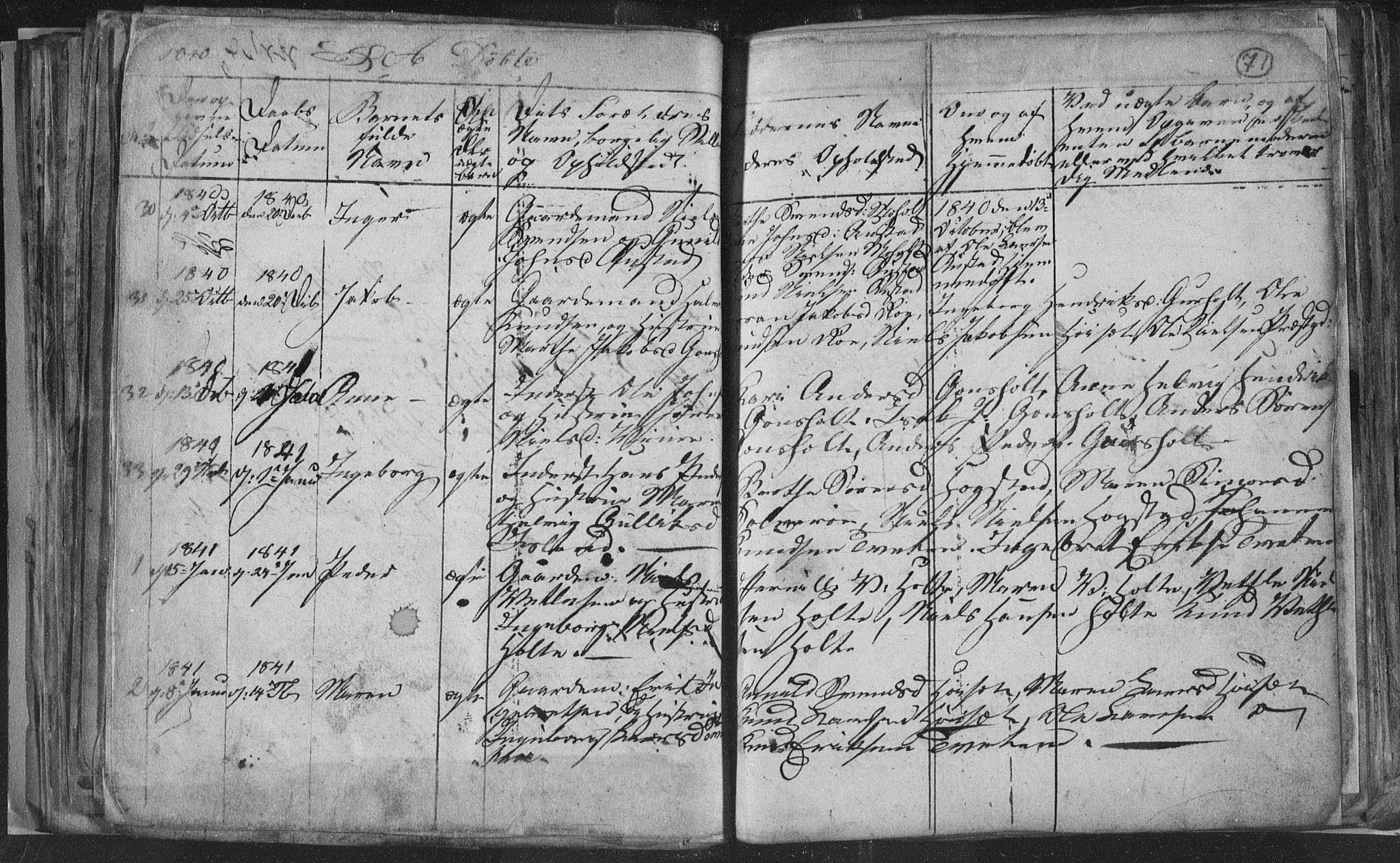 SAKO, Siljan kirkebøker, G/Ga/L0001: Klokkerbok nr. 1, 1827-1847, s. 71