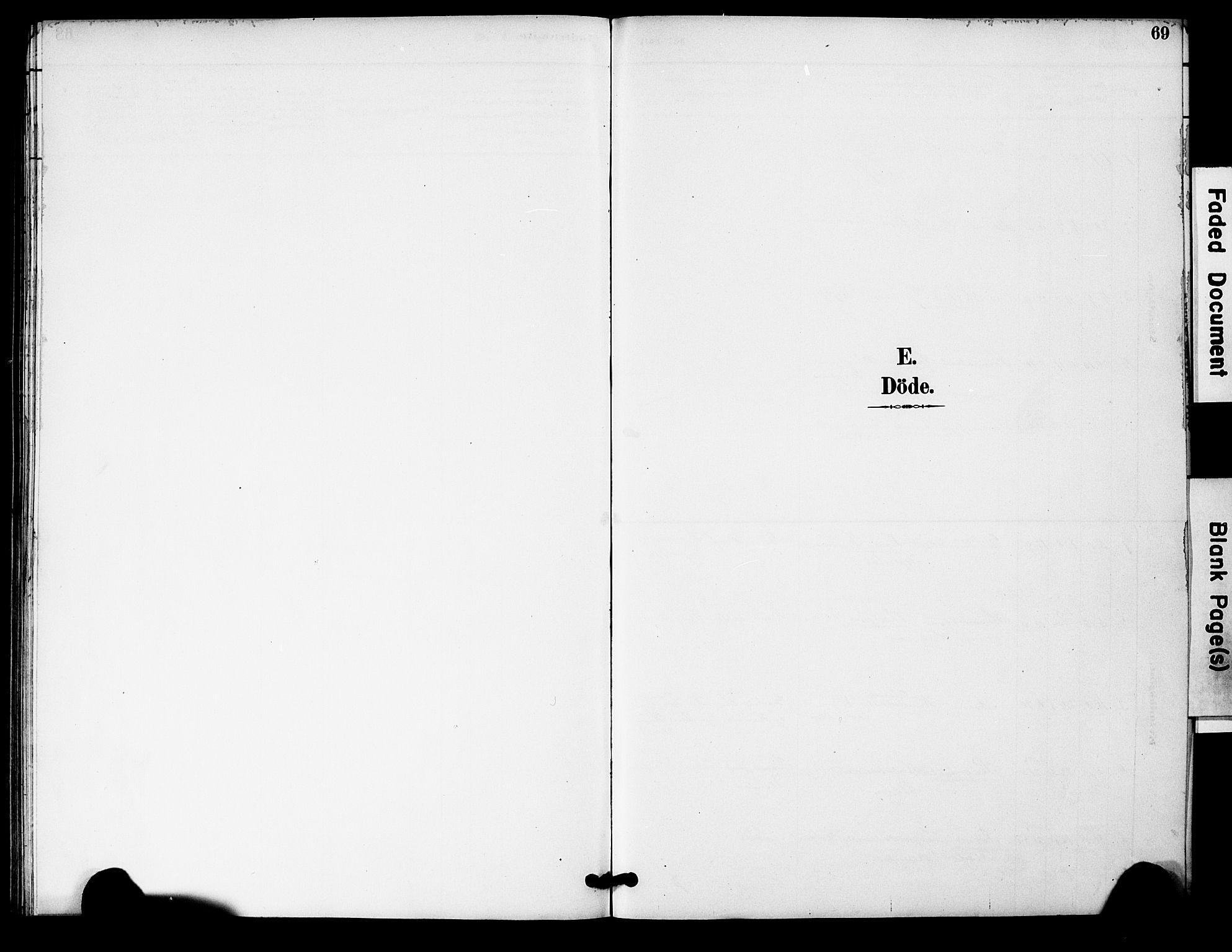 SAK, Bygland sokneprestkontor, F/Fa/Fac/L0001: Ministerialbok nr. A 1, 1885-1909, s. 69