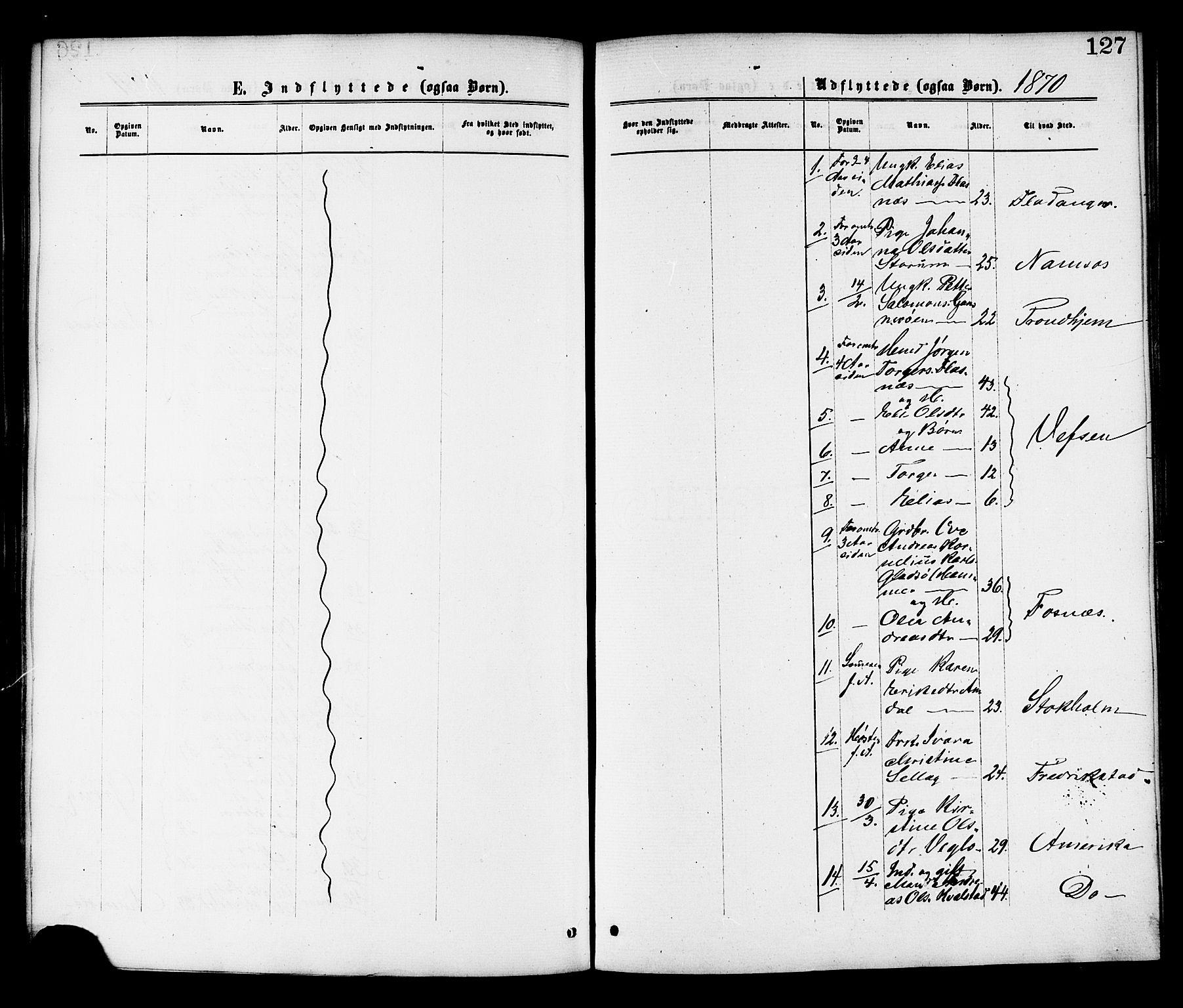 SAT, Ministerialprotokoller, klokkerbøker og fødselsregistre - Nord-Trøndelag, 764/L0554: Ministerialbok nr. 764A09, 1867-1880, s. 127