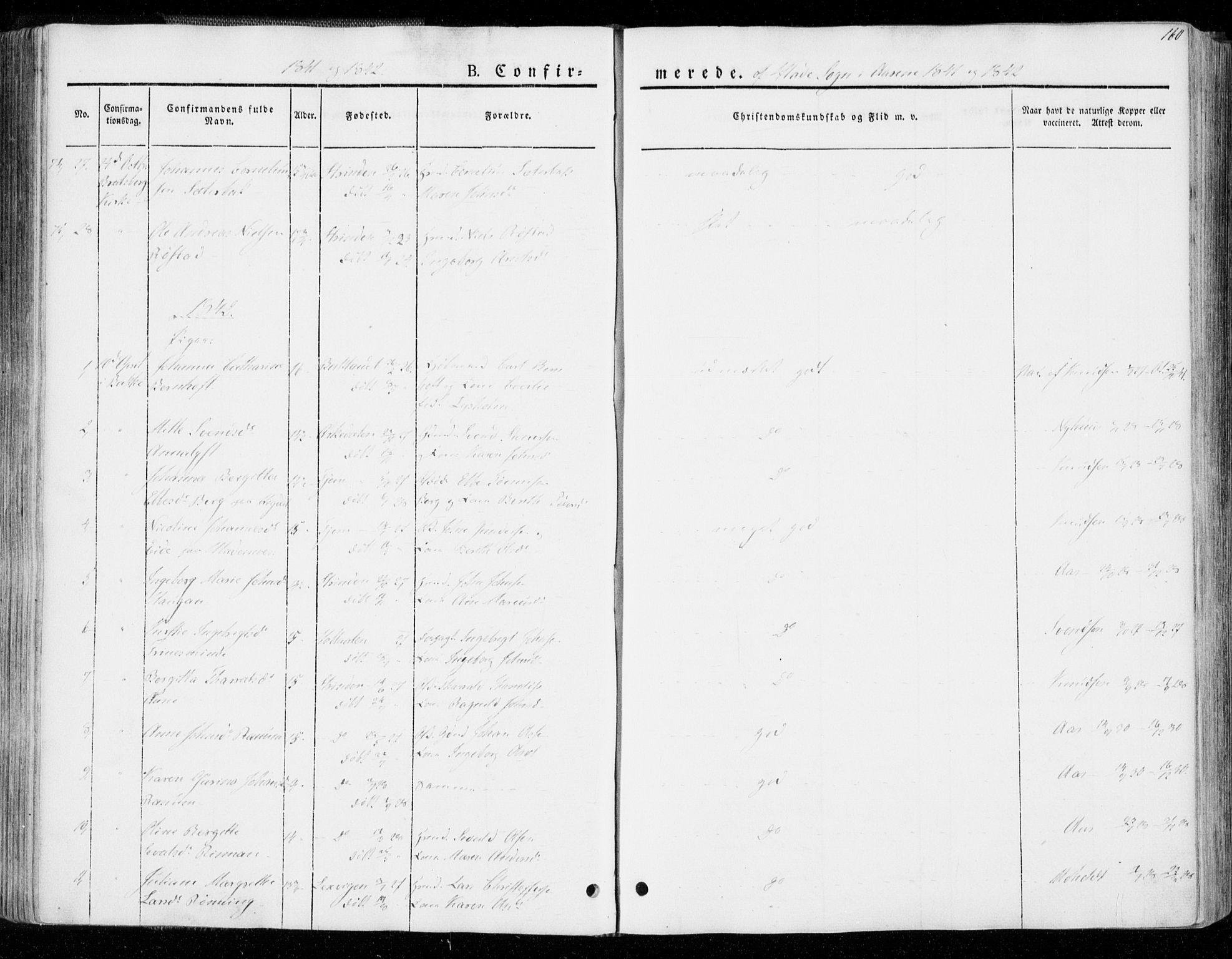 SAT, Ministerialprotokoller, klokkerbøker og fødselsregistre - Sør-Trøndelag, 606/L0290: Ministerialbok nr. 606A05, 1841-1847, s. 160