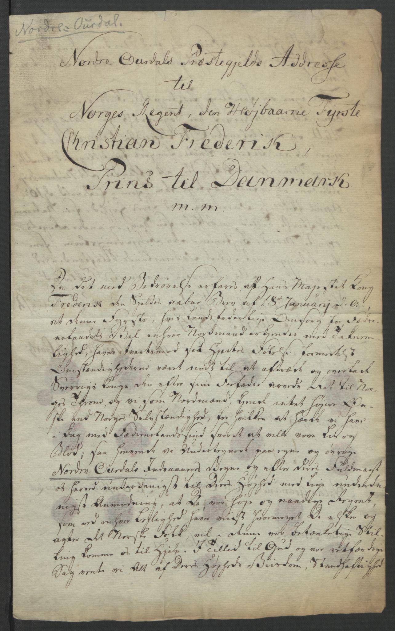 RA, Statsrådssekretariatet, D/Db/L0007: Fullmakter for Eidsvollsrepresentantene i 1814. , 1814, s. 275