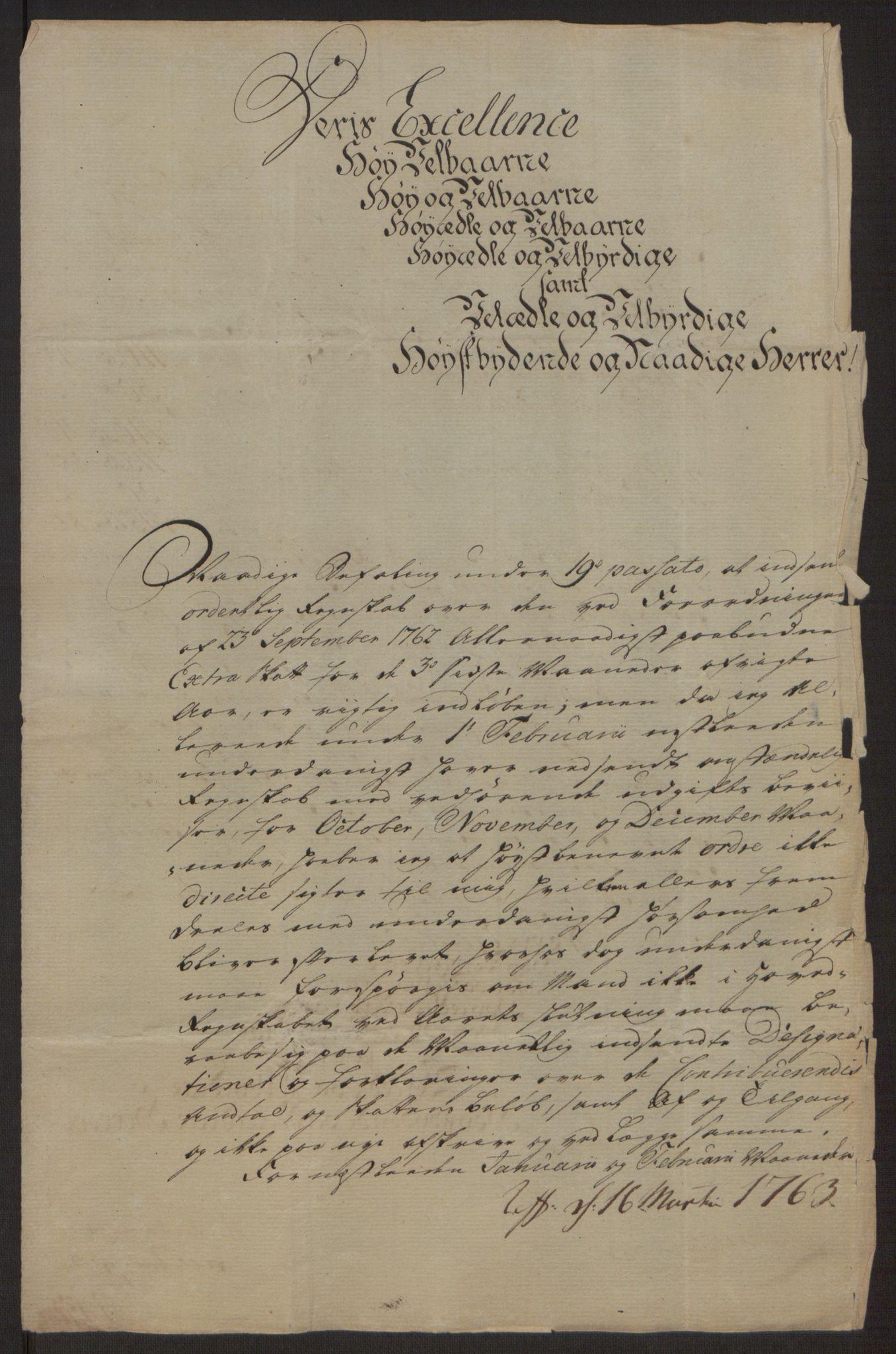RA, Rentekammeret inntil 1814, Reviderte regnskaper, Byregnskaper, R/Ri/L0183: [I4] Kontribusjonsregnskap, 1762-1768, s. 12