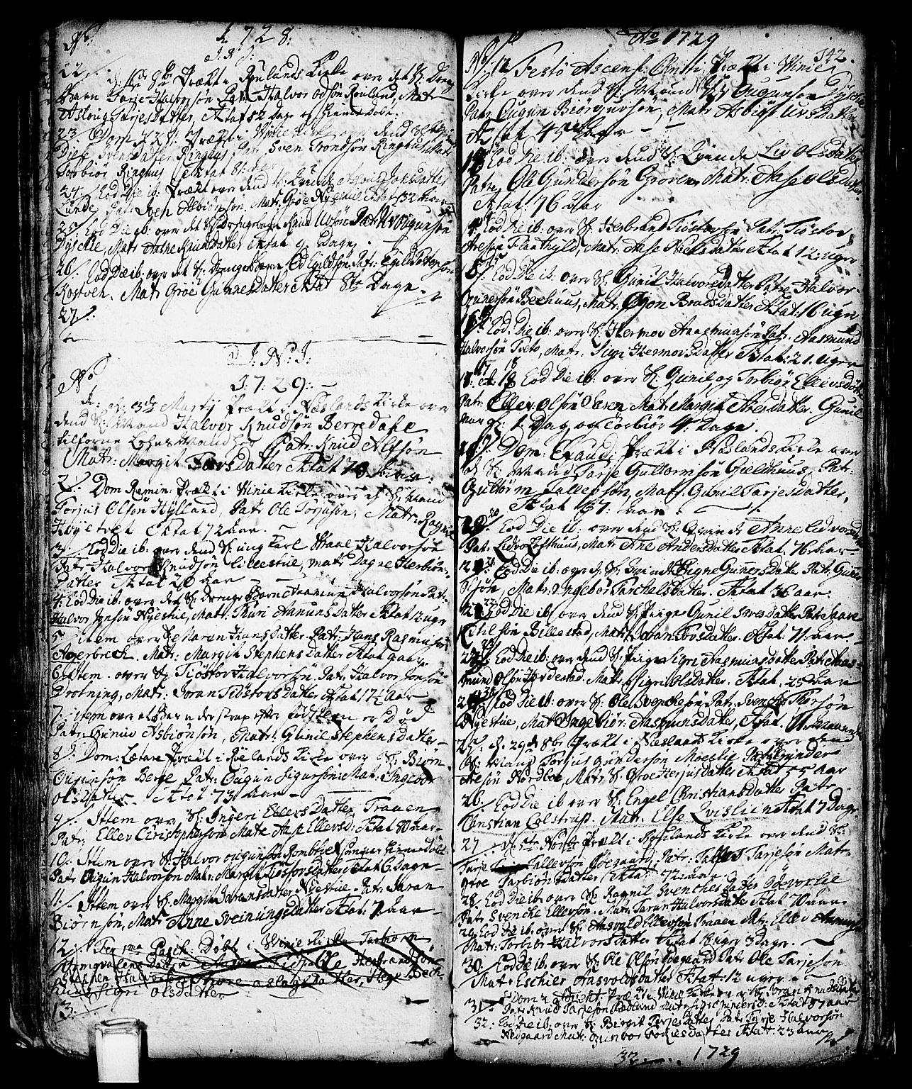 SAKO, Vinje kirkebøker, F/Fa/L0001: Ministerialbok nr. I 1, 1717-1766, s. 142