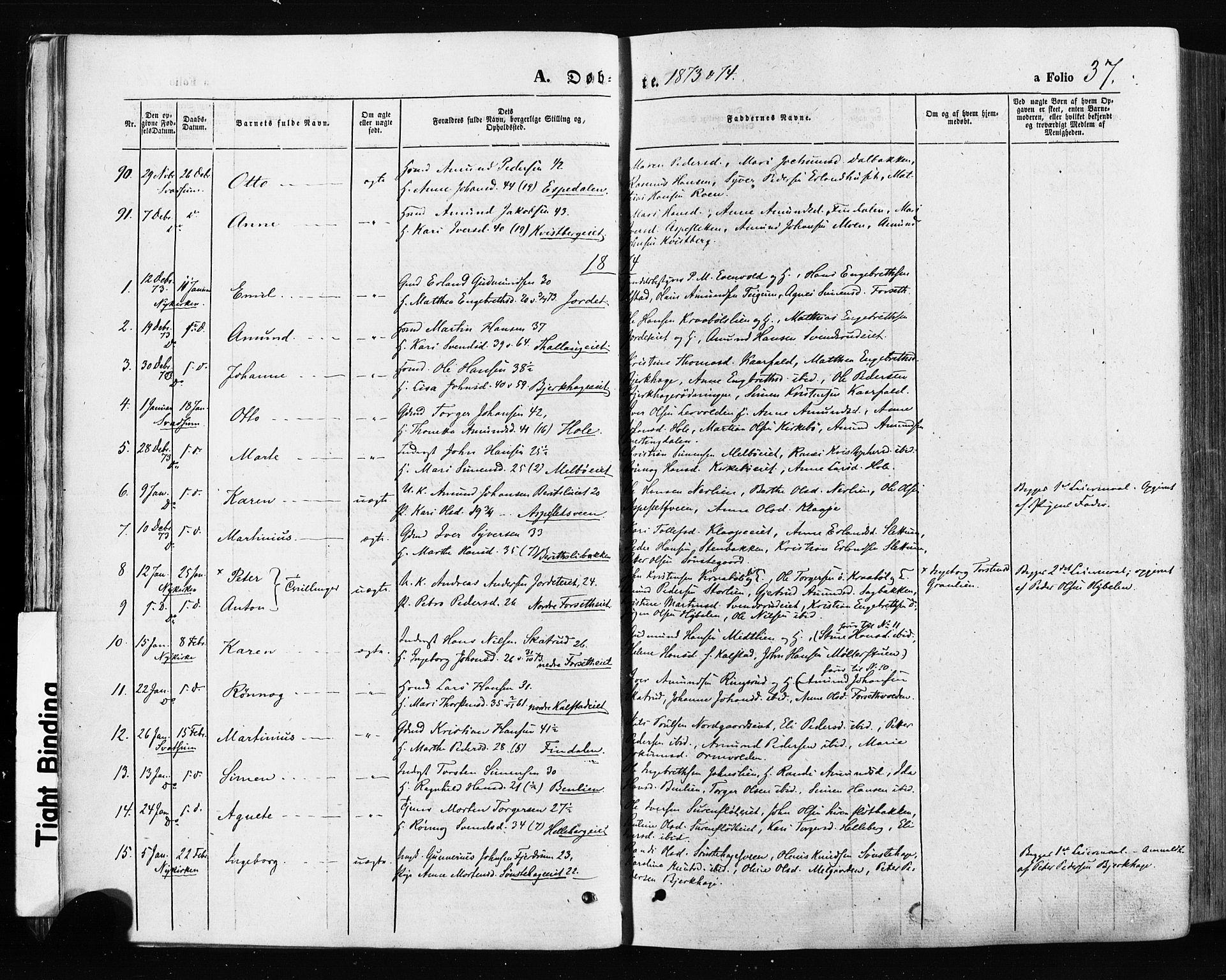 SAH, Gausdal prestekontor, Ministerialbok nr. 10, 1867-1886, s. 37