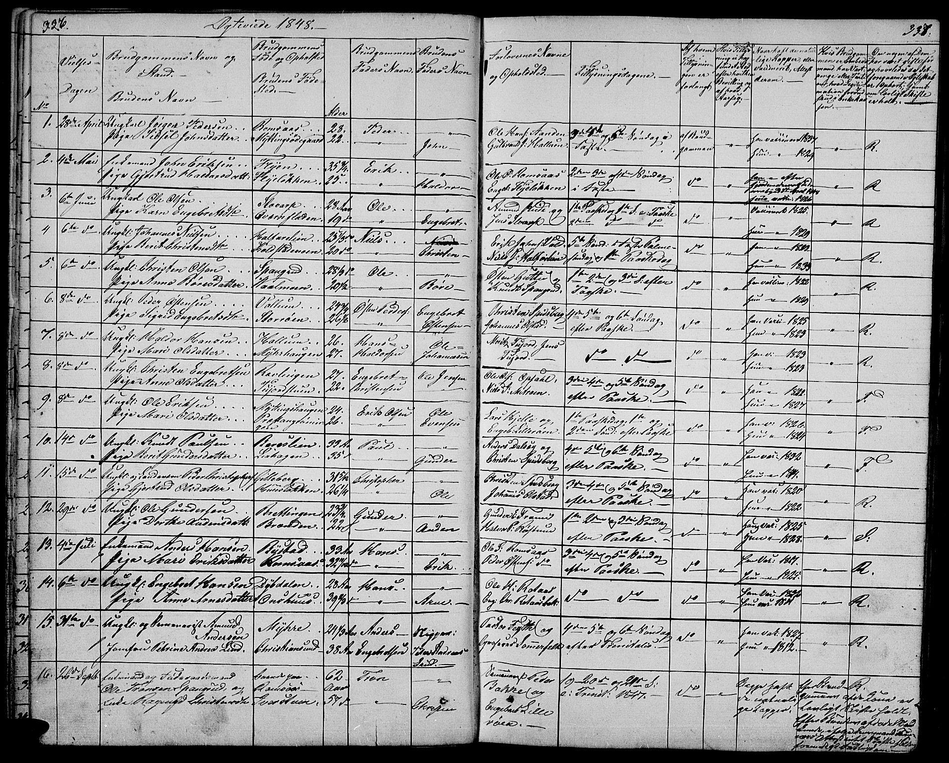 SAH, Ringebu prestekontor, Klokkerbok nr. 2, 1839-1853, s. 336-337