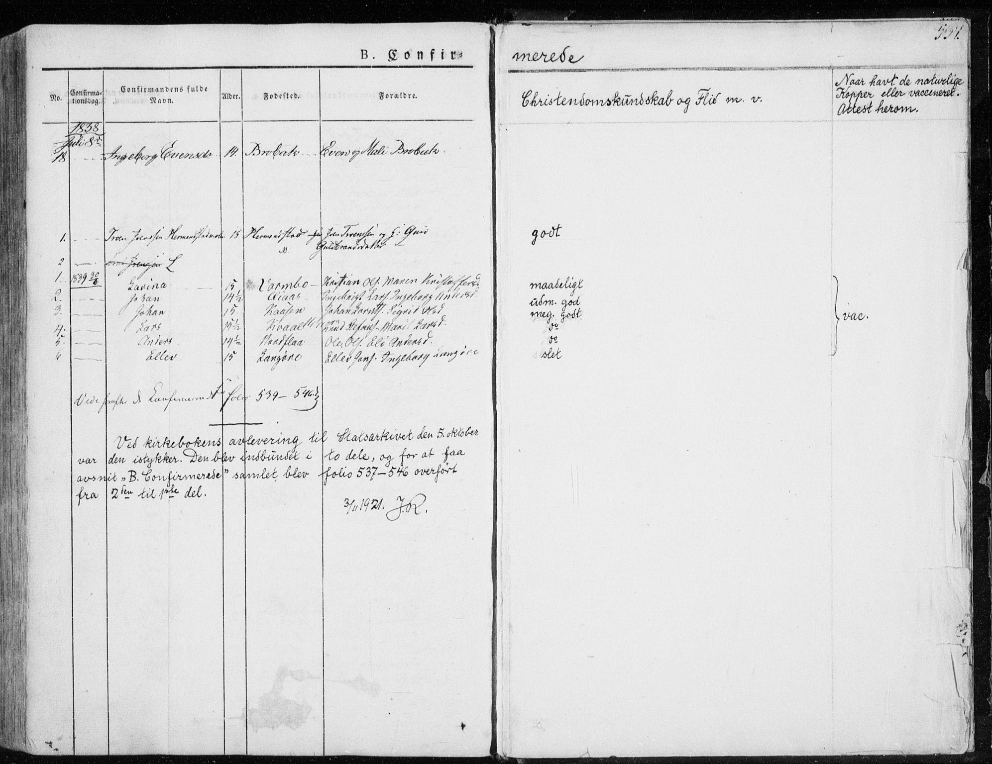 SAT, Ministerialprotokoller, klokkerbøker og fødselsregistre - Sør-Trøndelag, 691/L1069: Ministerialbok nr. 691A04, 1826-1841, s. 245
