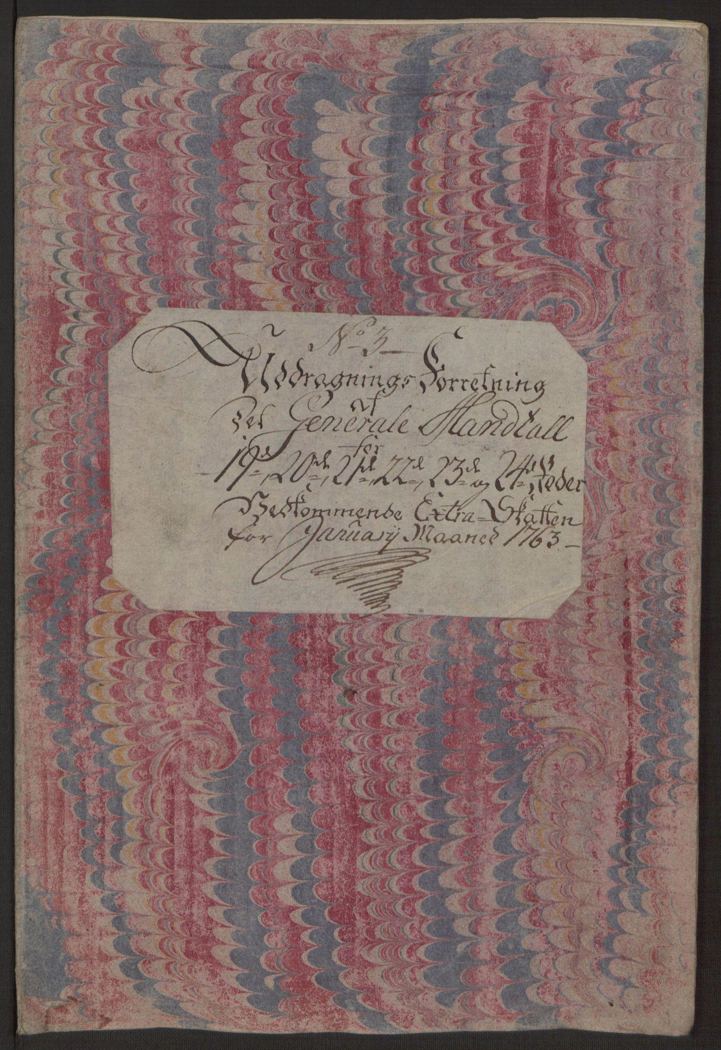 RA, Rentekammeret inntil 1814, Reviderte regnskaper, Byregnskaper, R/Rp/L0366: [P20] Kontribusjonsregnskap, 1763, s. 187