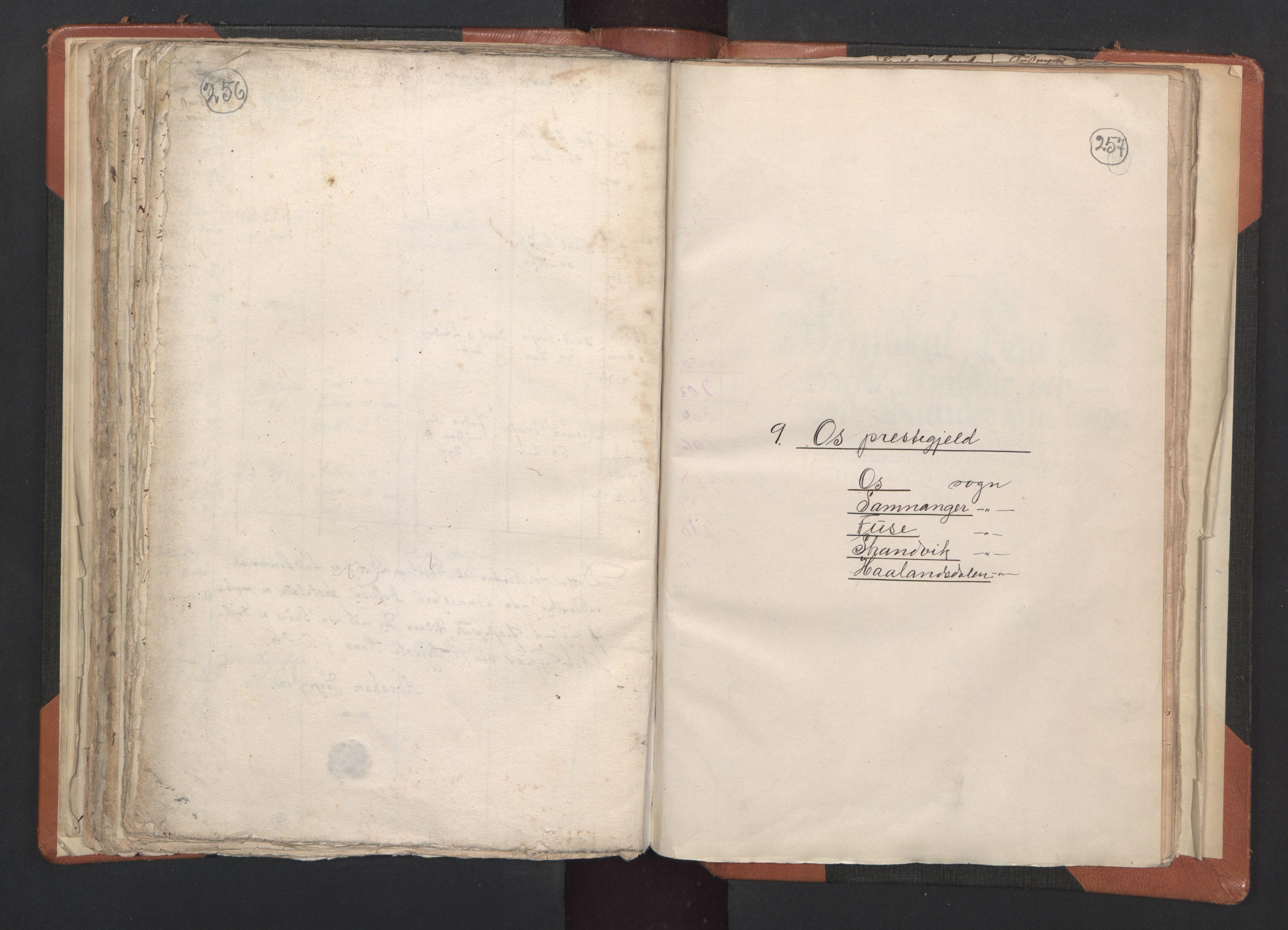 RA, Sogneprestenes manntall 1664-1666, nr. 20: Sunnhordland prosti, 1664-1666, s. 256-257