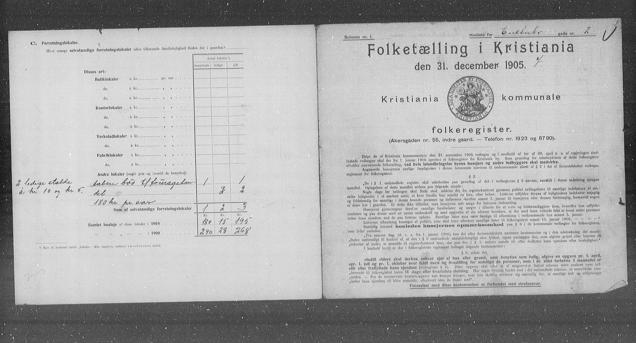 OBA, Kommunal folketelling 1905 for Kristiania kjøpstad, 1905, s. 10571