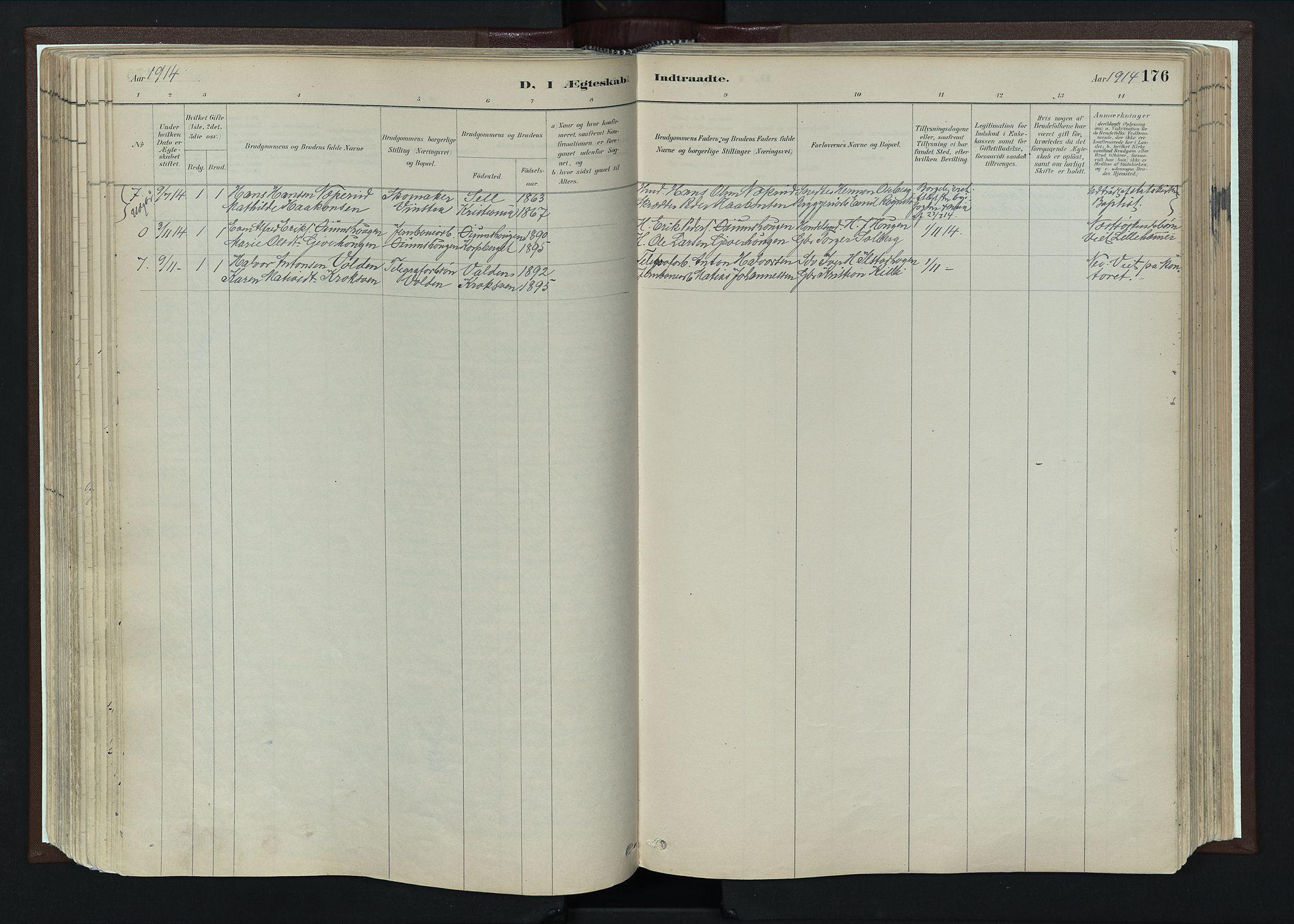 SAH, Nord-Fron prestekontor, Ministerialbok nr. 4, 1884-1914, s. 176