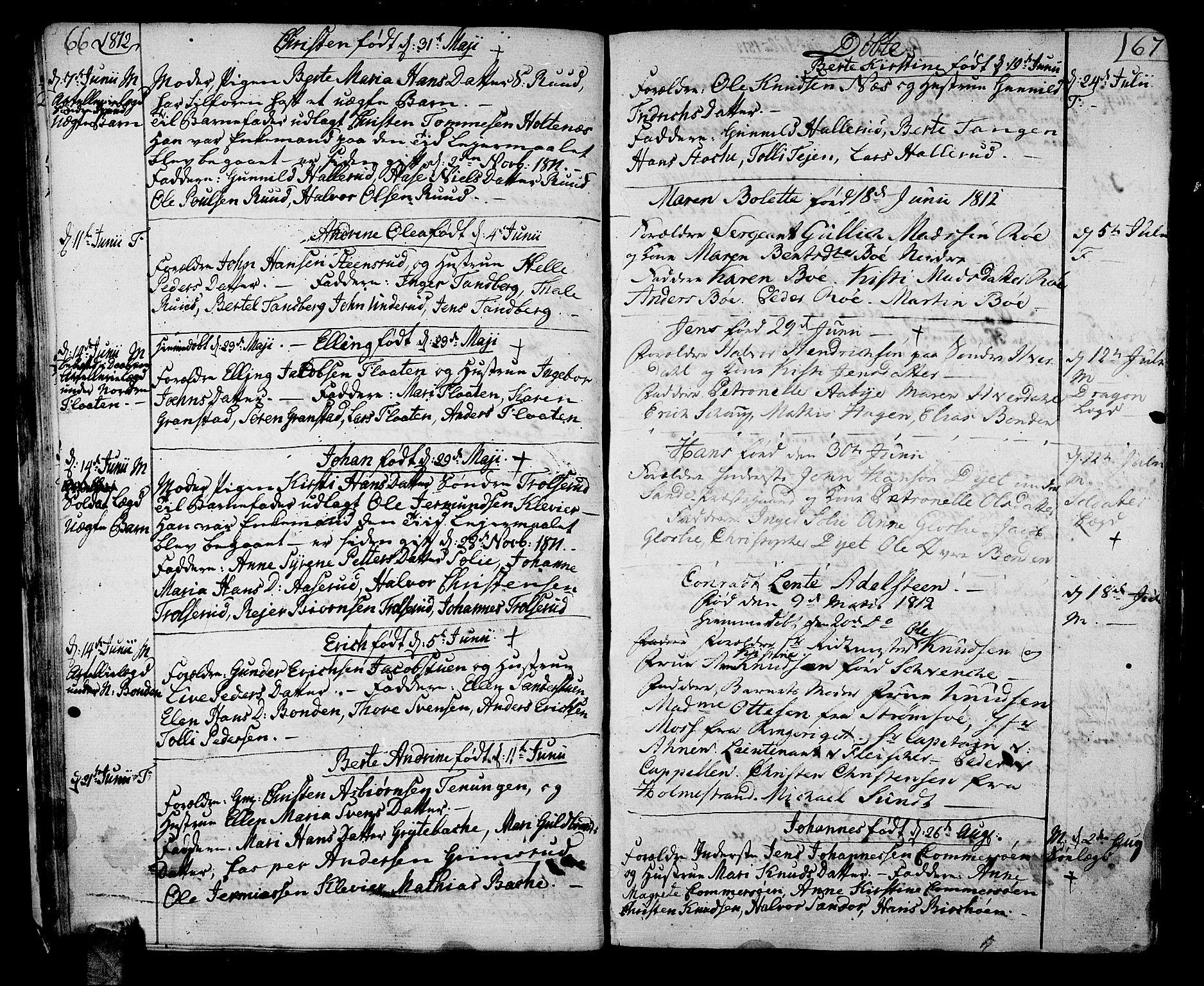 SAKO, Sande Kirkebøker, F/Fa/L0002: Ministerialbok nr. 2, 1804-1814, s. 66-67