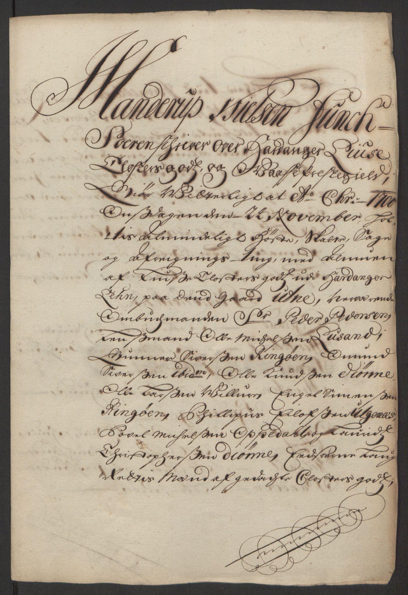 RA, Rentekammeret inntil 1814, Reviderte regnskaper, Fogderegnskap, R50/L3159: Fogderegnskap Lyse kloster, 1691-1709, s. 129