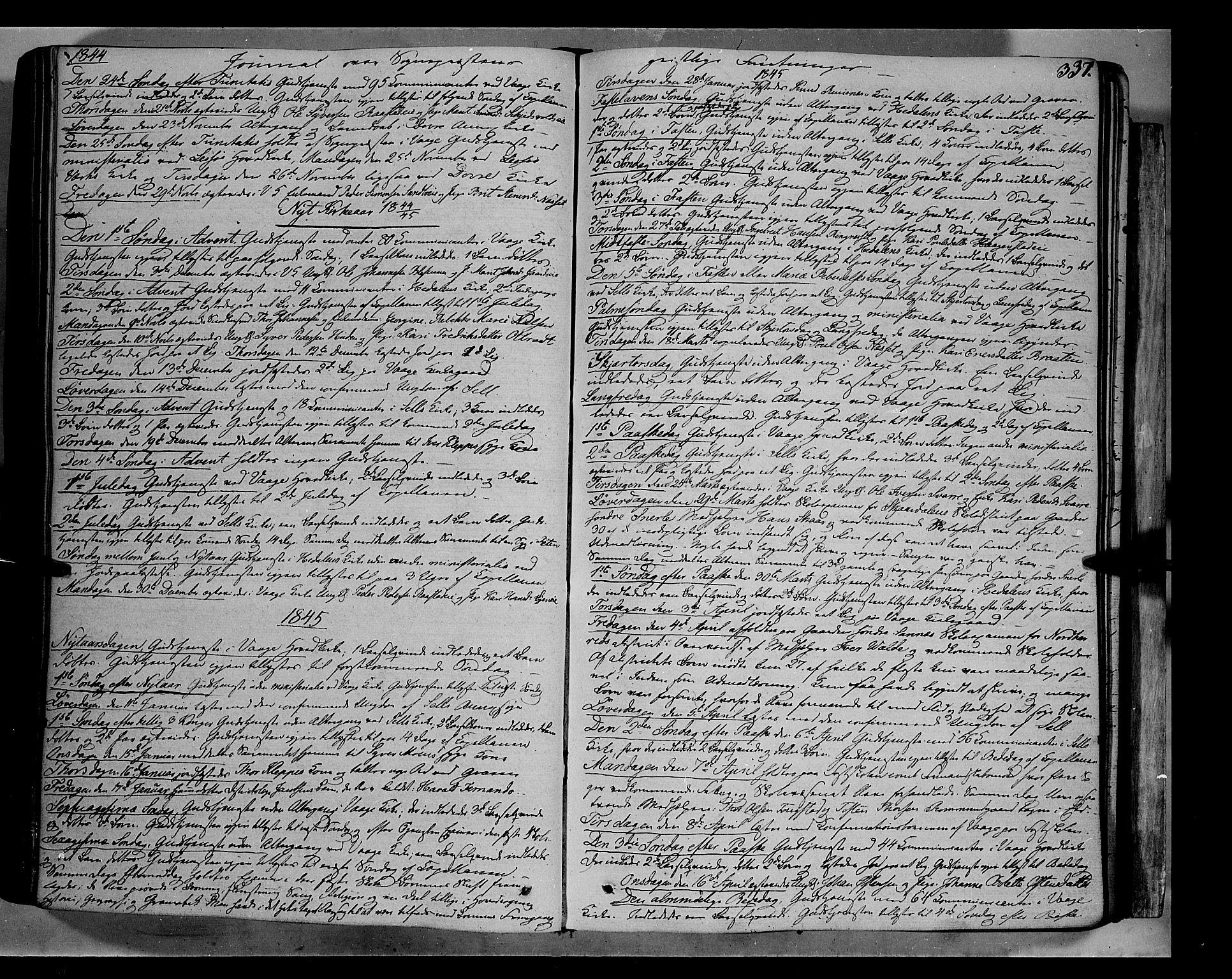 SAH, Vågå prestekontor, Ministerialbok nr. 5 /1, 1842-1856, s. 337