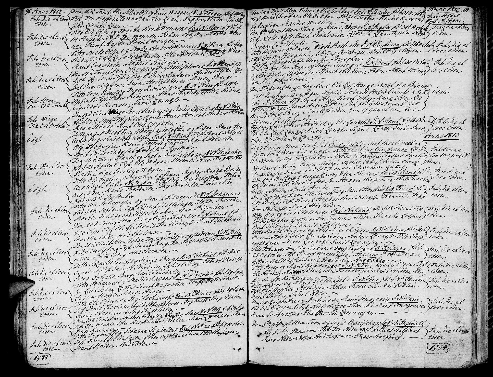 SAT, Ministerialprotokoller, klokkerbøker og fødselsregistre - Sør-Trøndelag, 630/L0490: Ministerialbok nr. 630A03, 1795-1818, s. 96-97