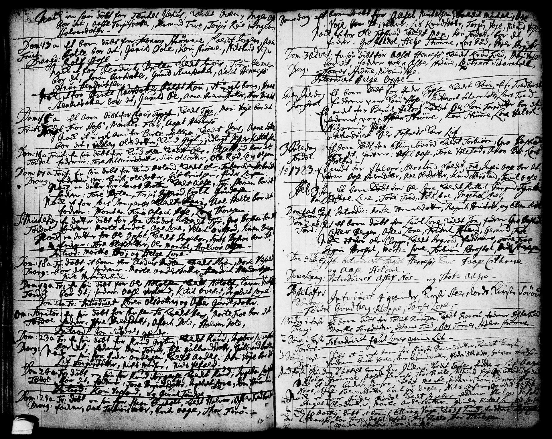 SAKO, Drangedal kirkebøker, F/Fa/L0001: Ministerialbok nr. 1, 1697-1767, s. 44
