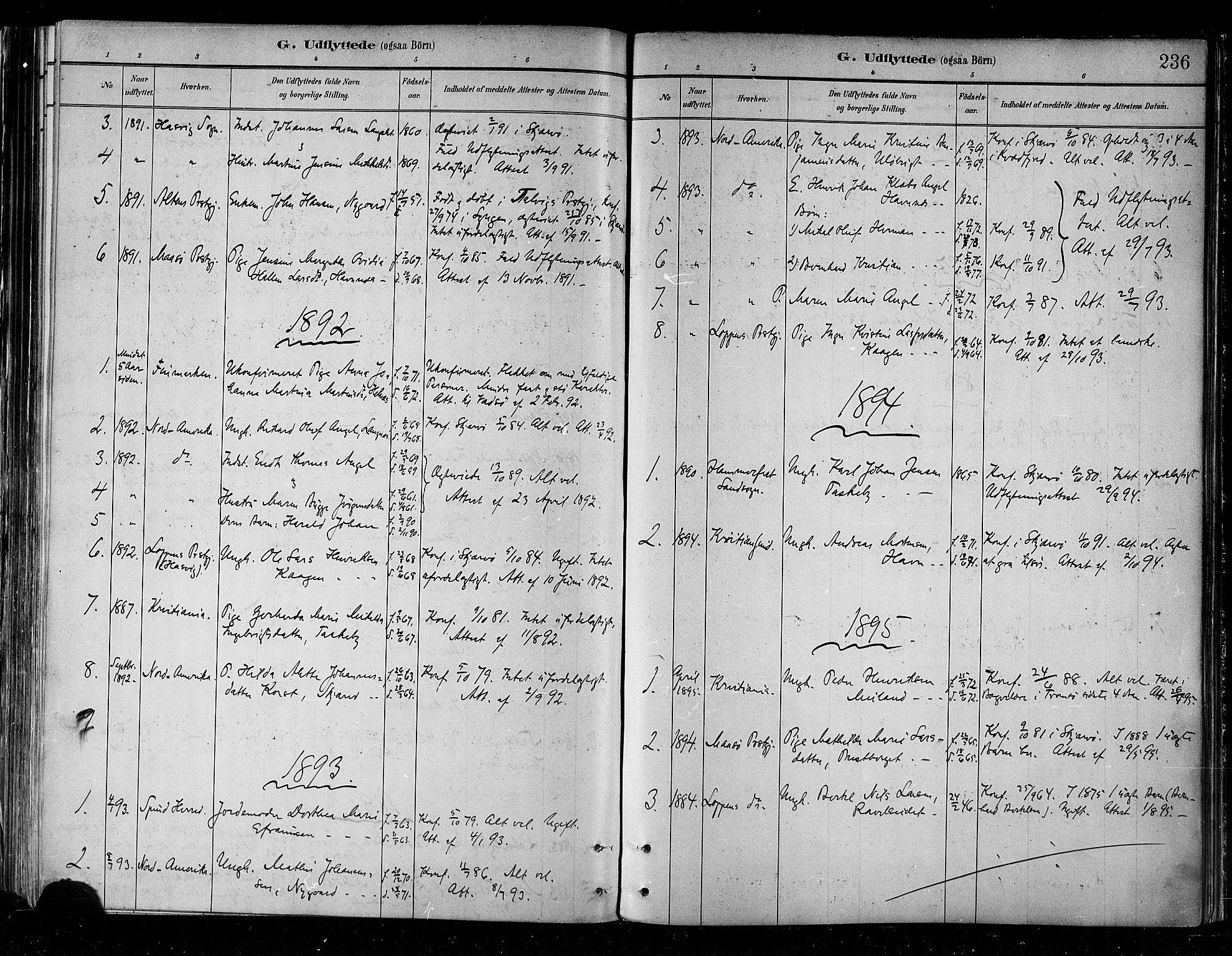 SATØ, Skjervøy sokneprestkontor, H/Ha/Haa/L0010kirke: Ministerialbok nr. 10, 1887-1898, s. 236