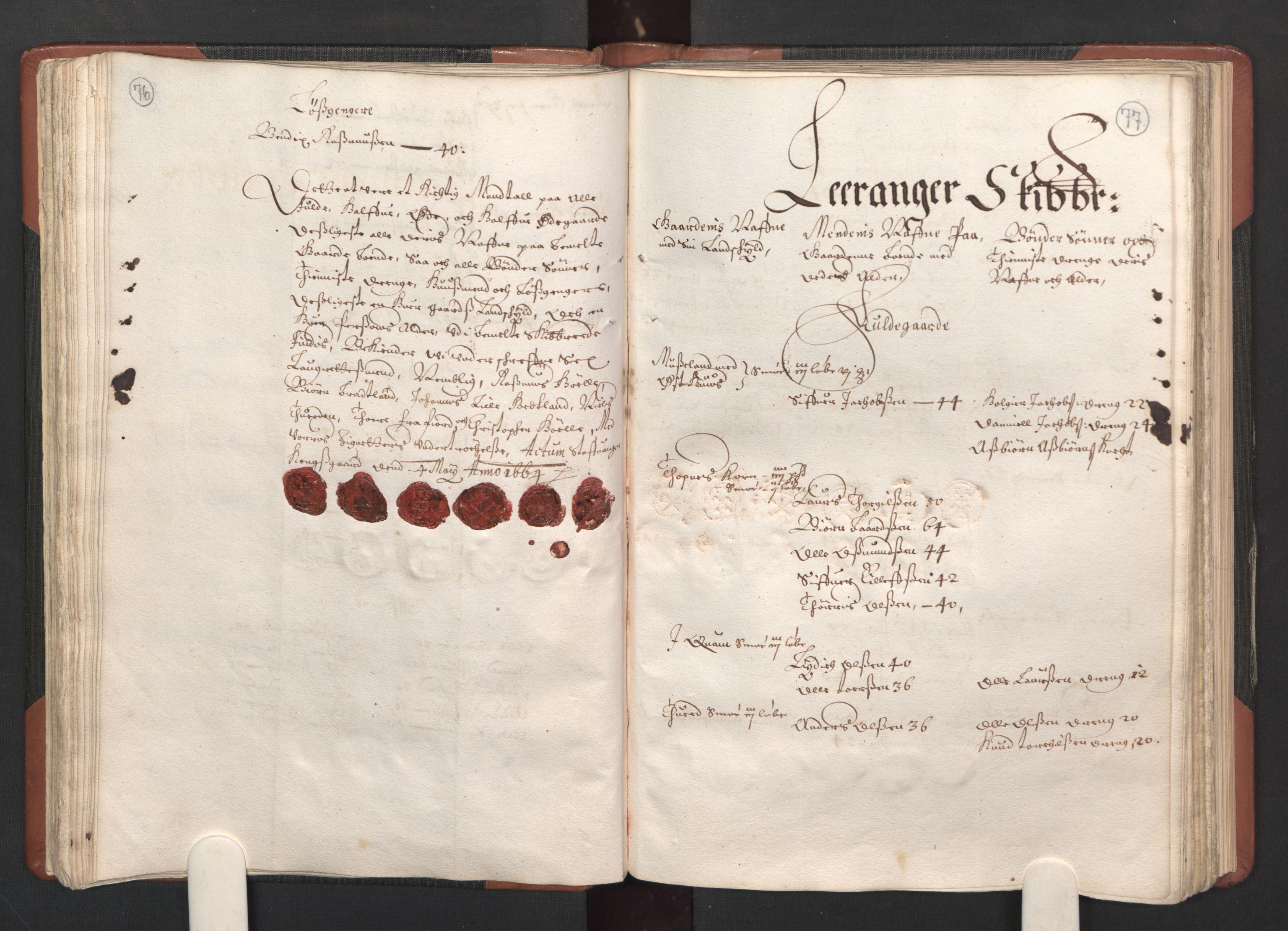 RA, Fogdenes og sorenskrivernes manntall 1664-1666, nr. 12: Ryfylke fogderi, 1664, s. 76-77