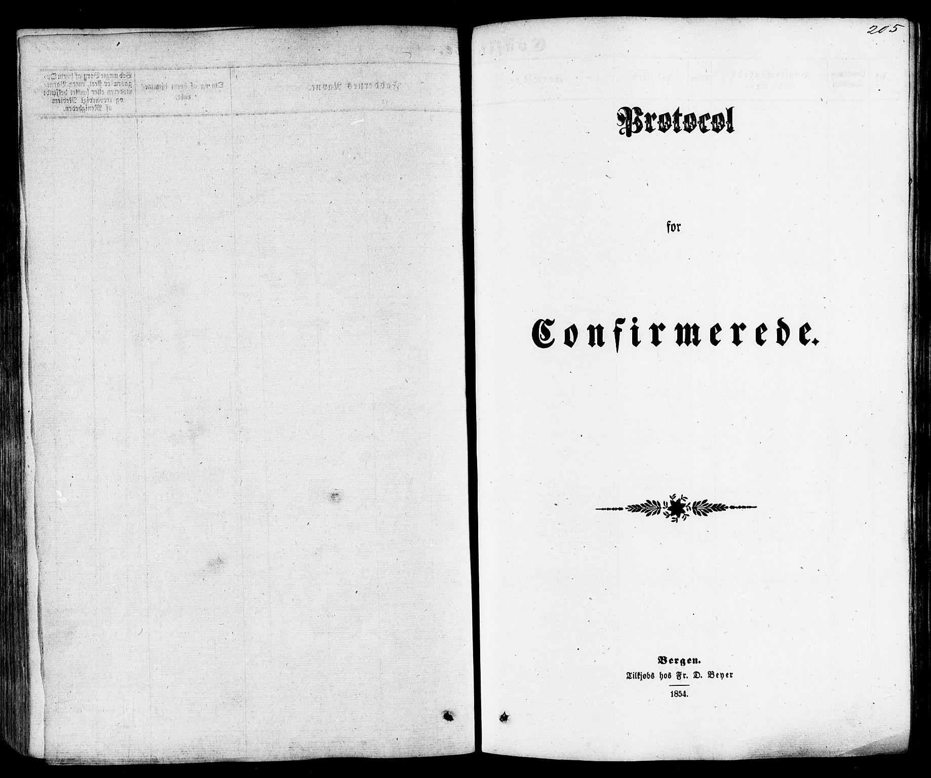 SAST, Skjold sokneprestkontor, H/Ha/Haa/L0008: Ministerialbok nr. A 8, 1856-1882, s. 205