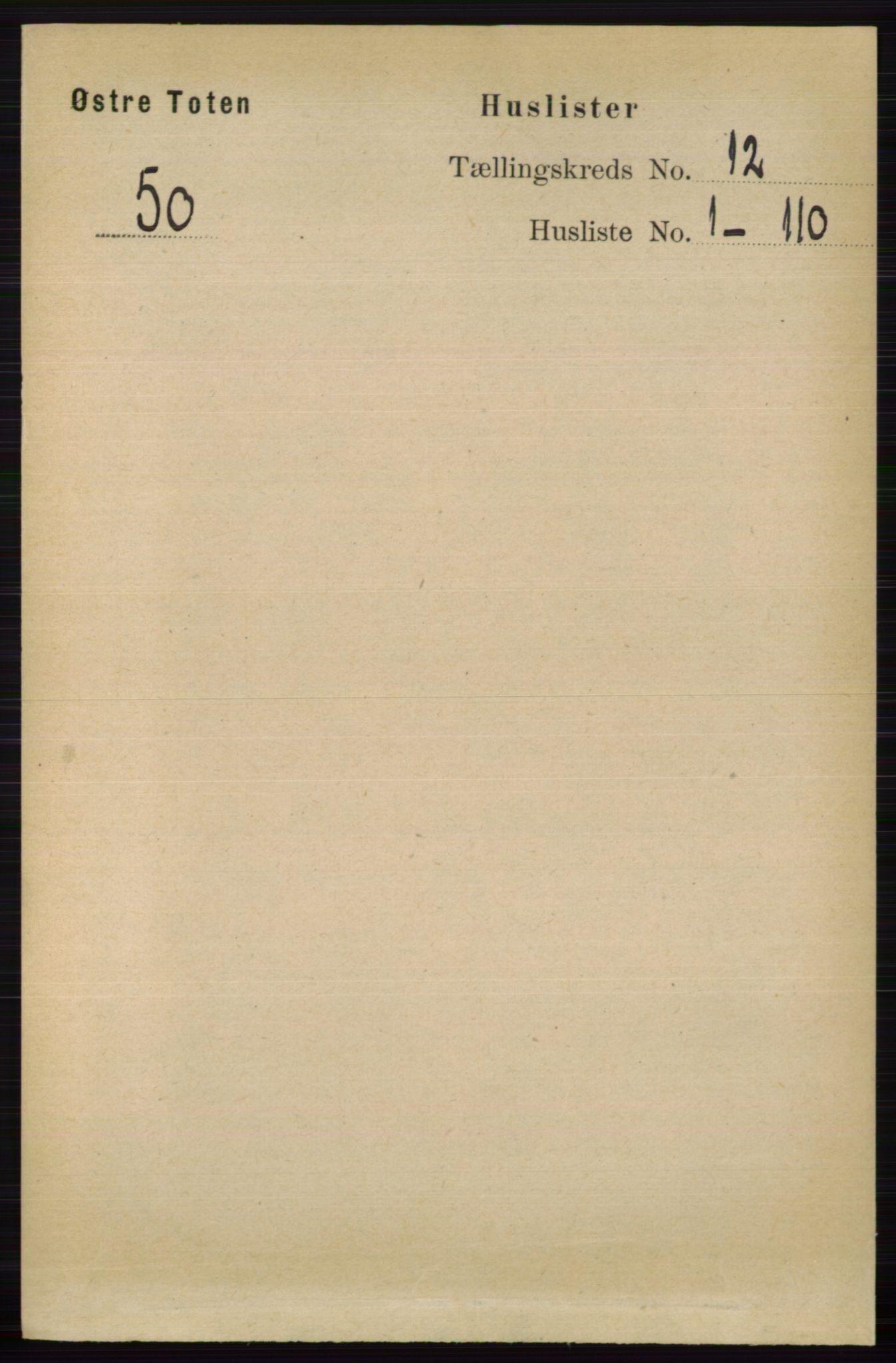 RA, Folketelling 1891 for 0528 Østre Toten herred, 1891, s. 7651