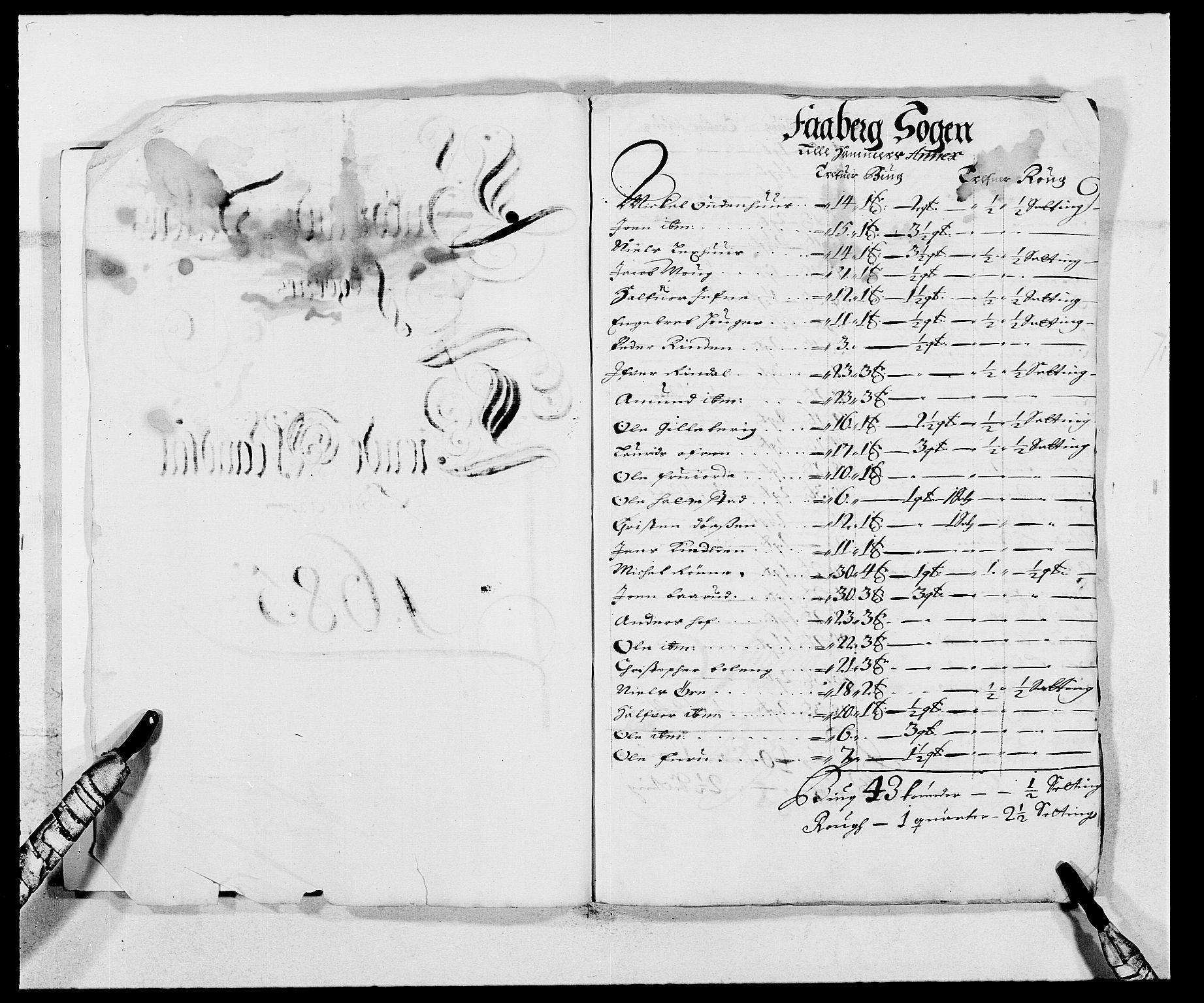 RA, Rentekammeret inntil 1814, Reviderte regnskaper, Fogderegnskap, R17/L1160: Fogderegnskap Gudbrandsdal, 1682-1689, s. 16