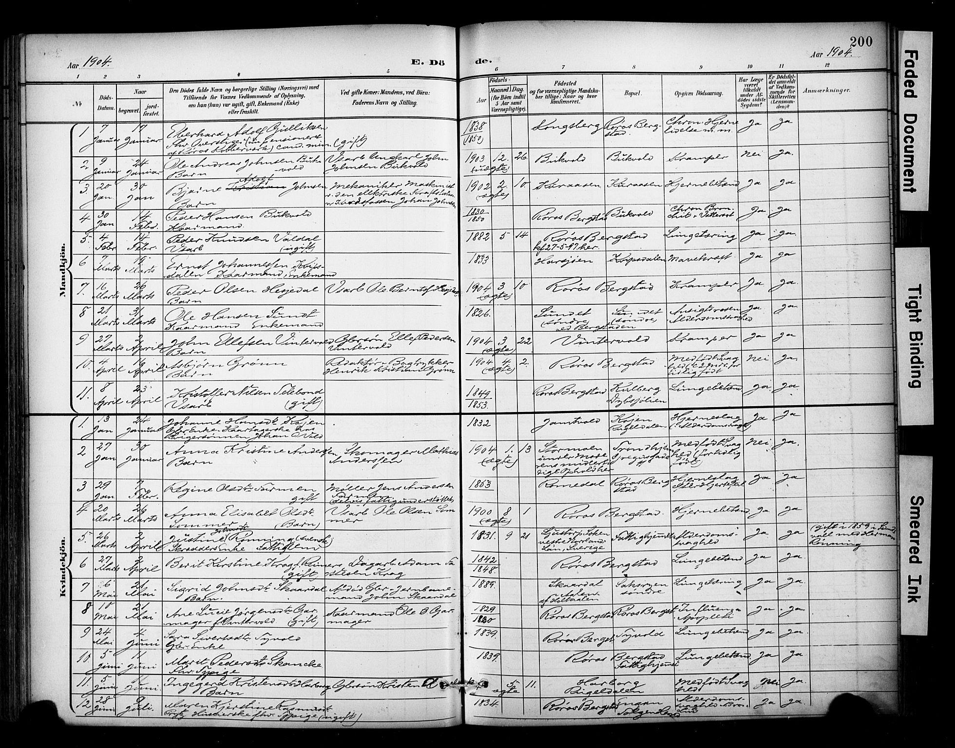 SAT, Ministerialprotokoller, klokkerbøker og fødselsregistre - Sør-Trøndelag, 681/L0936: Ministerialbok nr. 681A14, 1899-1908, s. 200