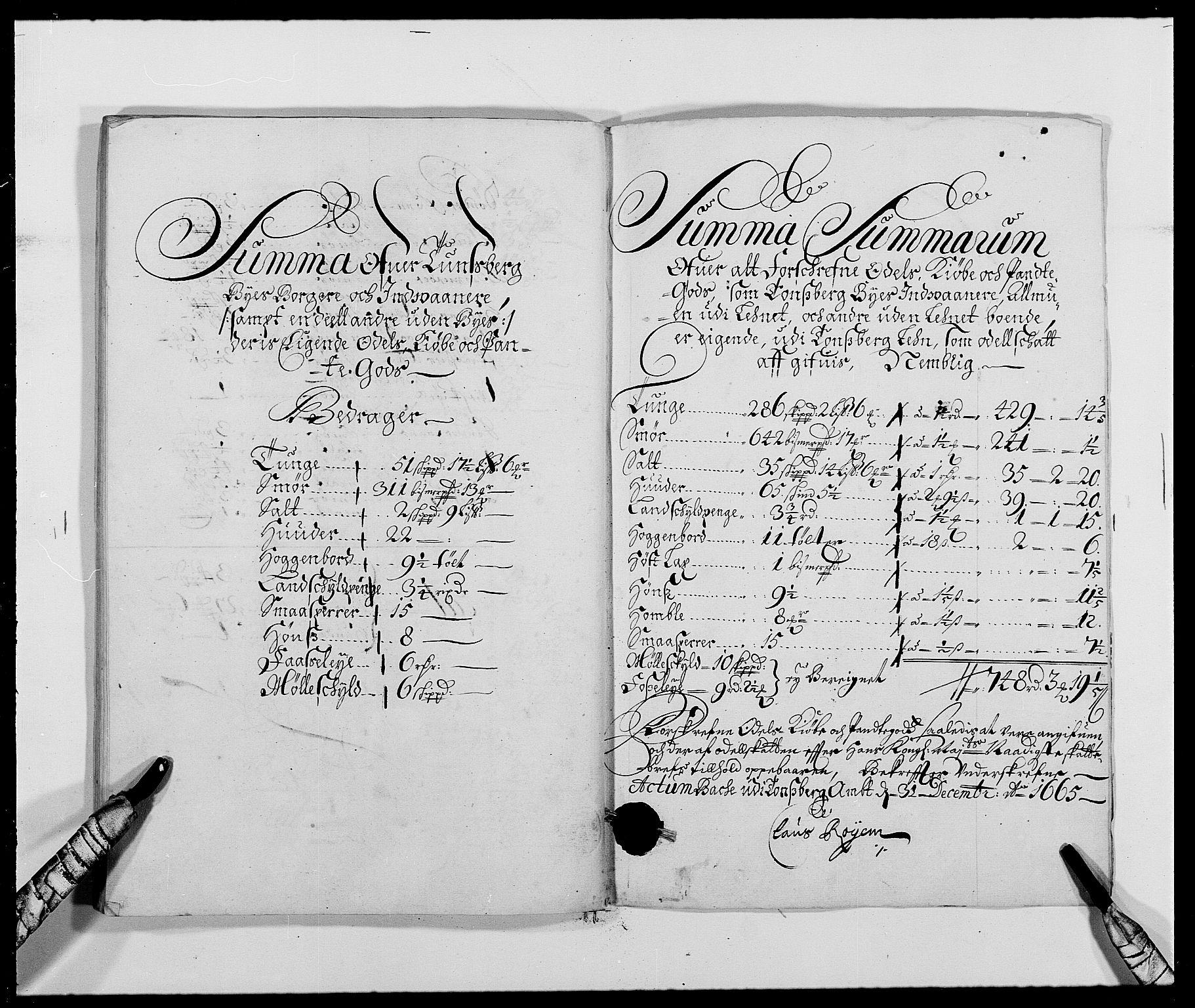 RA, Rentekammeret inntil 1814, Reviderte regnskaper, Fogderegnskap, R32/L1839: Fogderegnskap Jarlsberg grevskap, 1664-1673, s. 336