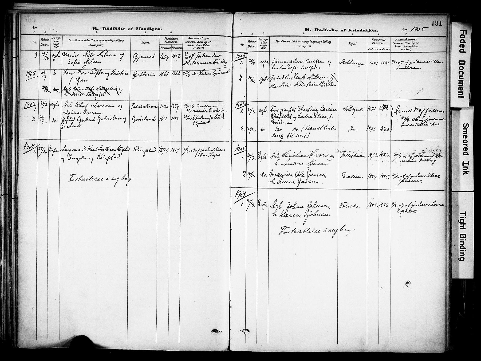 SAKO, Solum kirkebøker, F/Fa/L0011: Ministerialbok nr. I 11, 1898-1909, s. 131