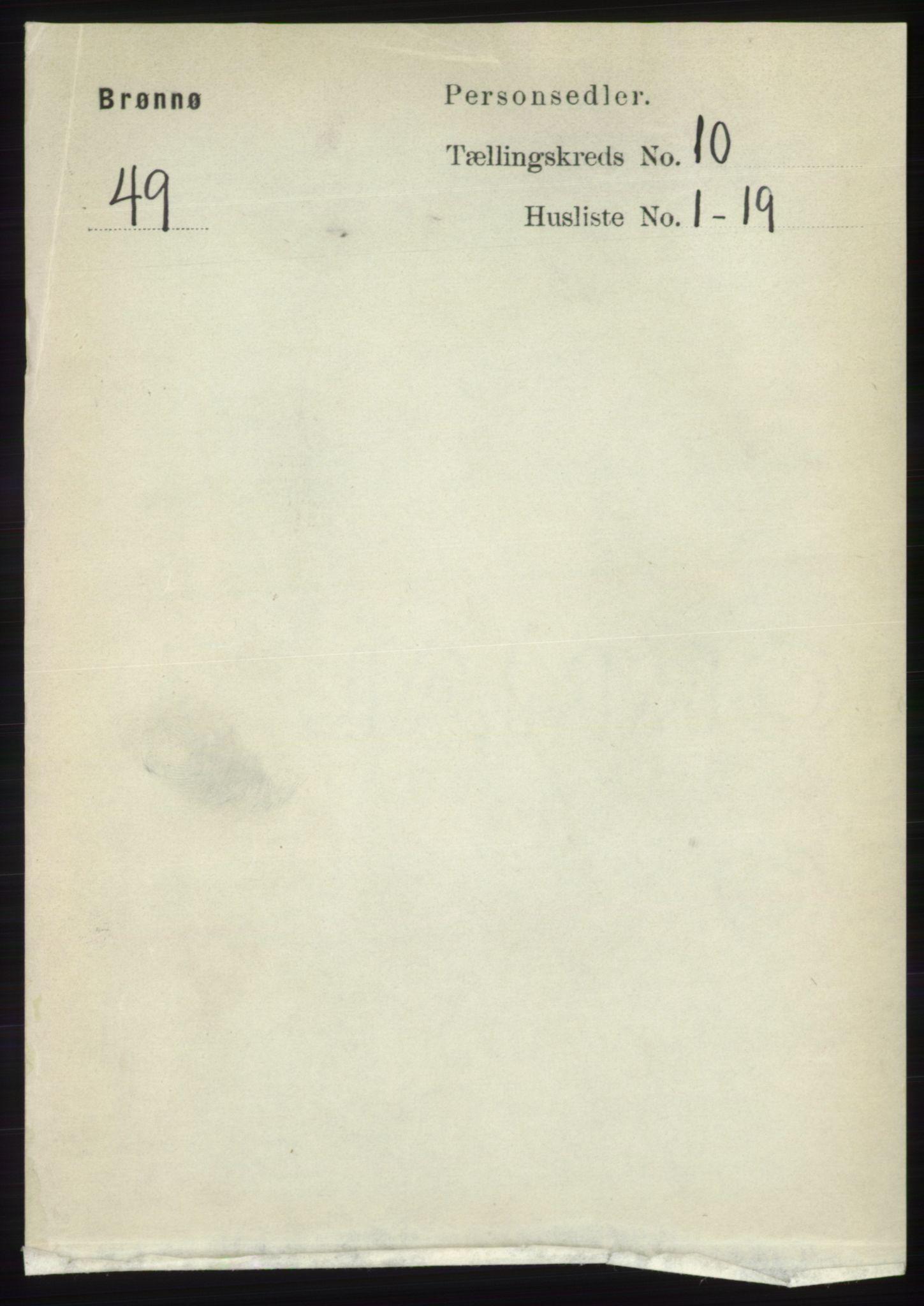 RA, Folketelling 1891 for 1814 Brønnøy herred, 1891, s. 5722