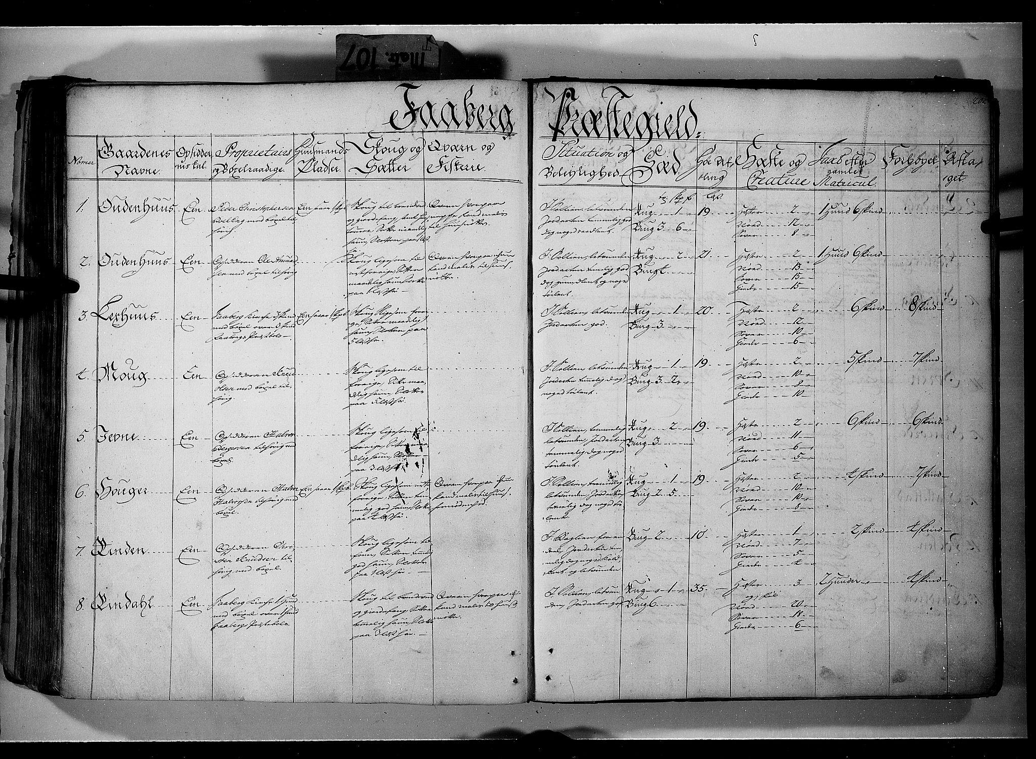 RA, Rentekammeret inntil 1814, Realistisk ordnet avdeling, N/Nb/Nbf/L0107: Gudbrandsdalen eksaminasjonsprotokoll, 1723, s. 201b-202a