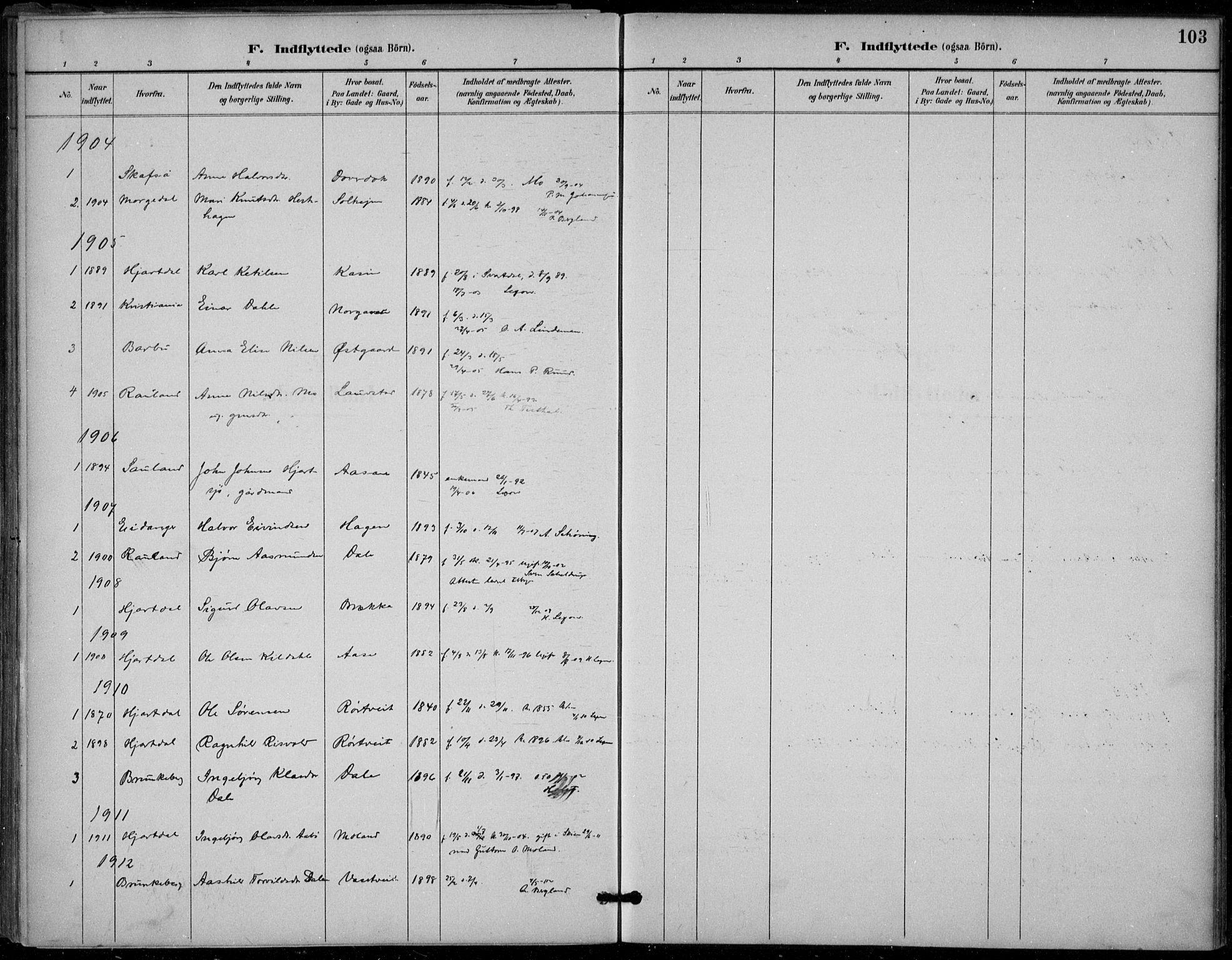 SAKO, Seljord kirkebøker, F/Fb/L0002: Ministerialbok nr. II 2, 1887-1917, s. 103