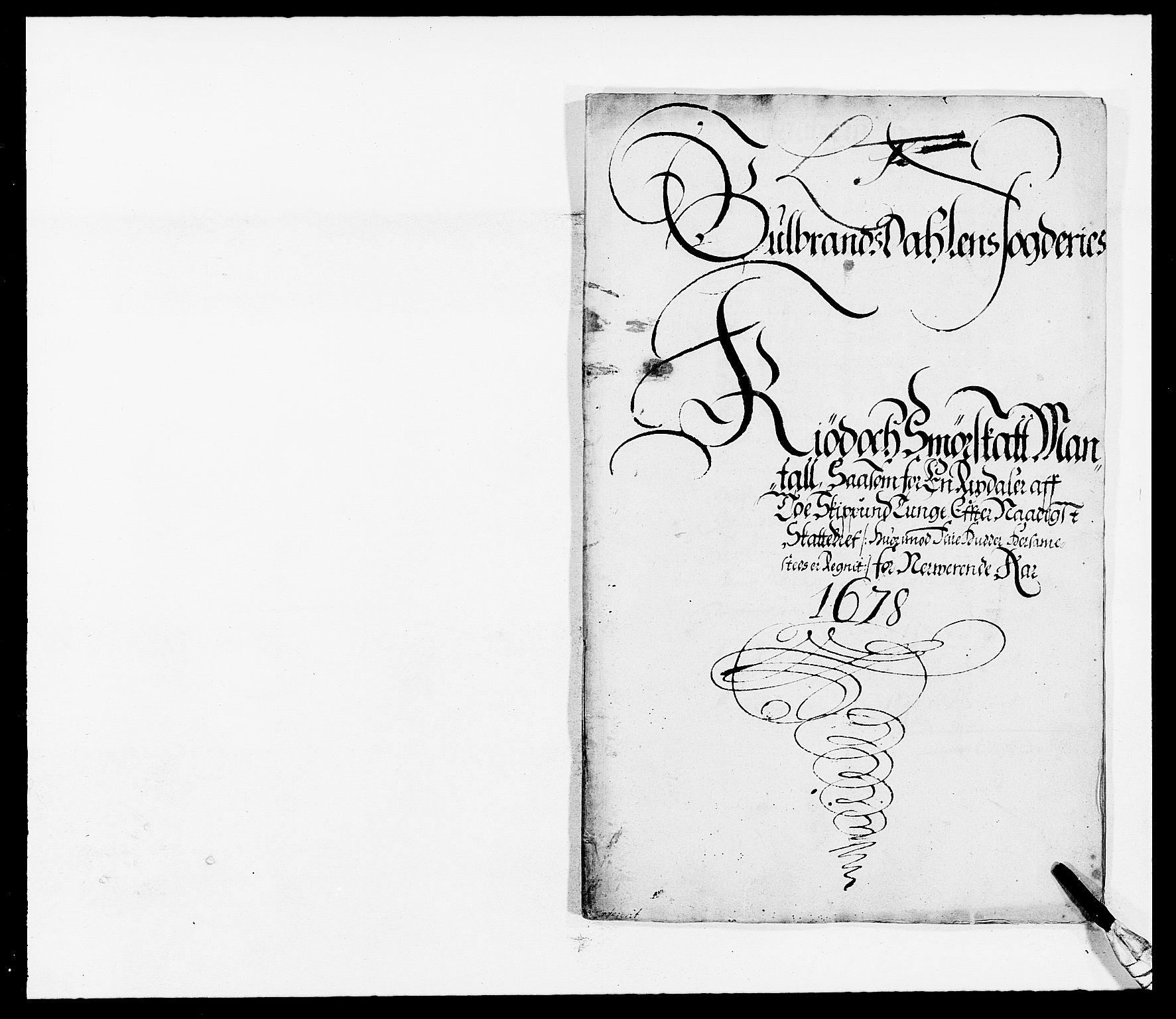 RA, Rentekammeret inntil 1814, Reviderte regnskaper, Fogderegnskap, R17/L1152: Fogderegnskap Gudbrandsdal, 1678-1679, s. 257