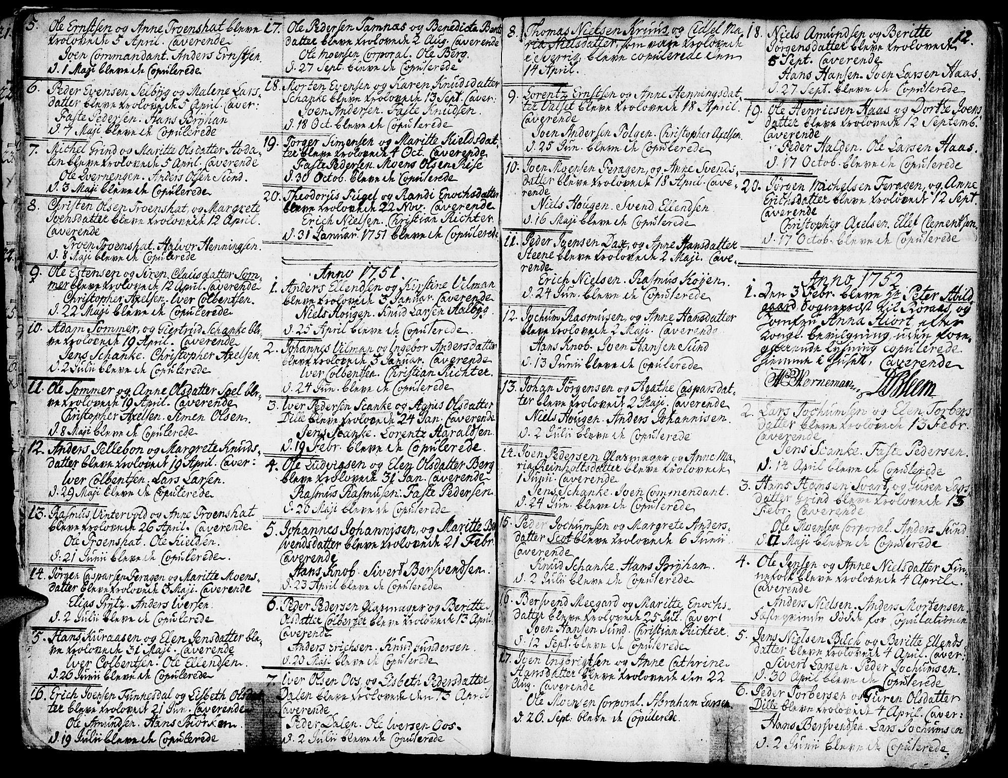 SAT, Ministerialprotokoller, klokkerbøker og fødselsregistre - Sør-Trøndelag, 681/L0925: Ministerialbok nr. 681A03, 1727-1766, s. 12