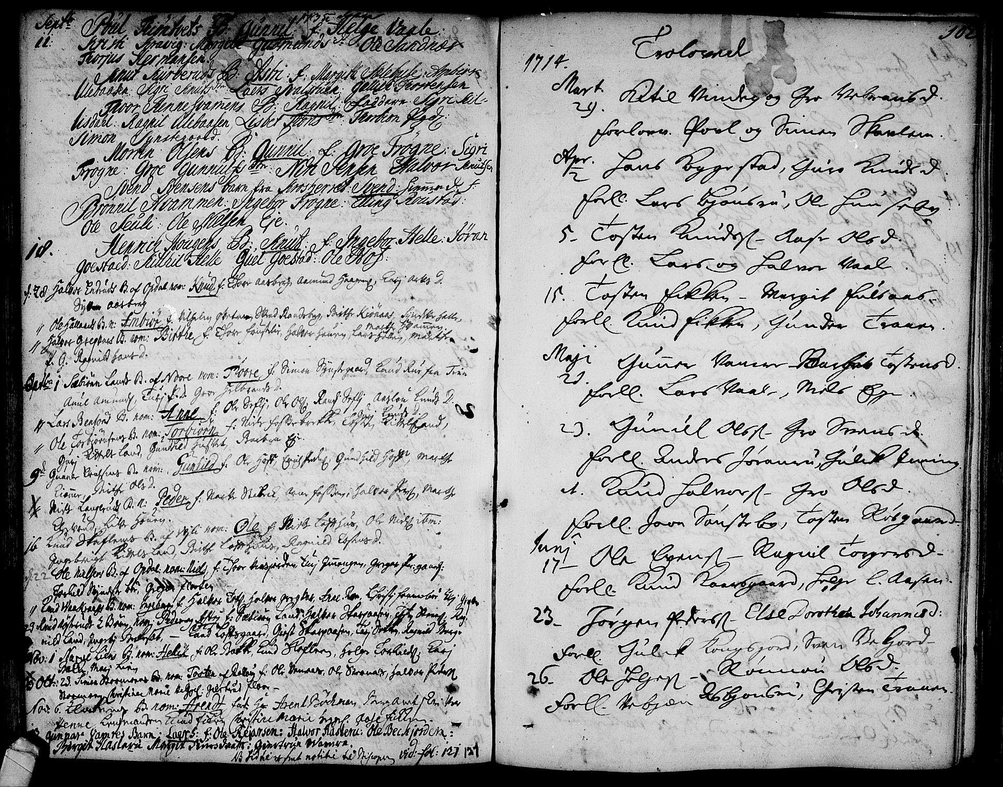 SAKO, Rollag kirkebøker, F/Fa/L0002: Ministerialbok nr. I 2, 1714-1742, s. 102