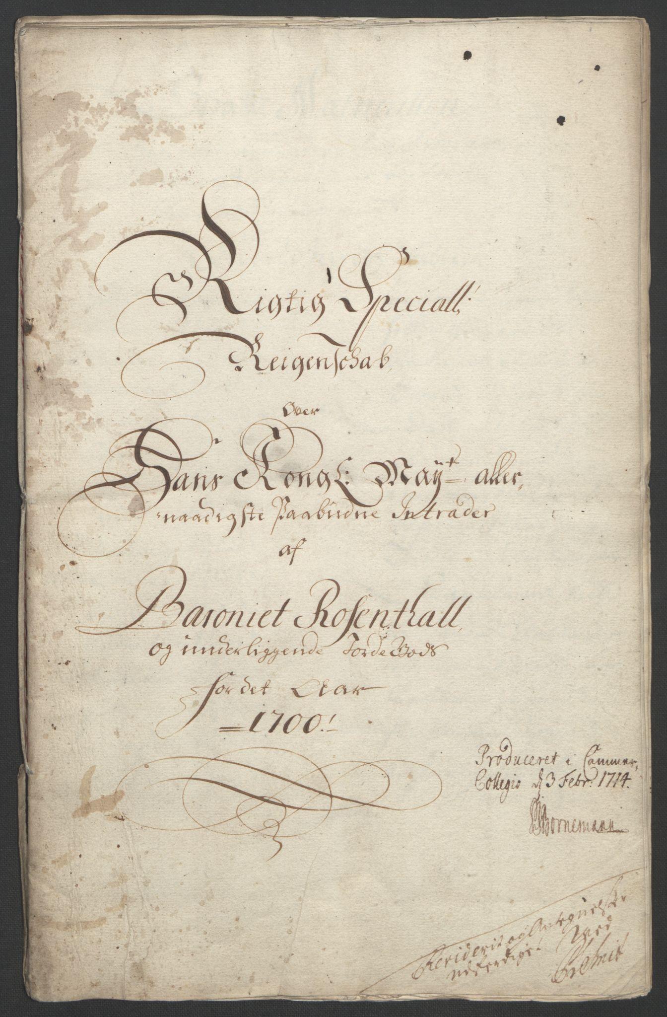 RA, Rentekammeret inntil 1814, Reviderte regnskaper, Fogderegnskap, R49/L3138: Fogderegnskap Rosendal Baroni, 1691-1714, s. 95