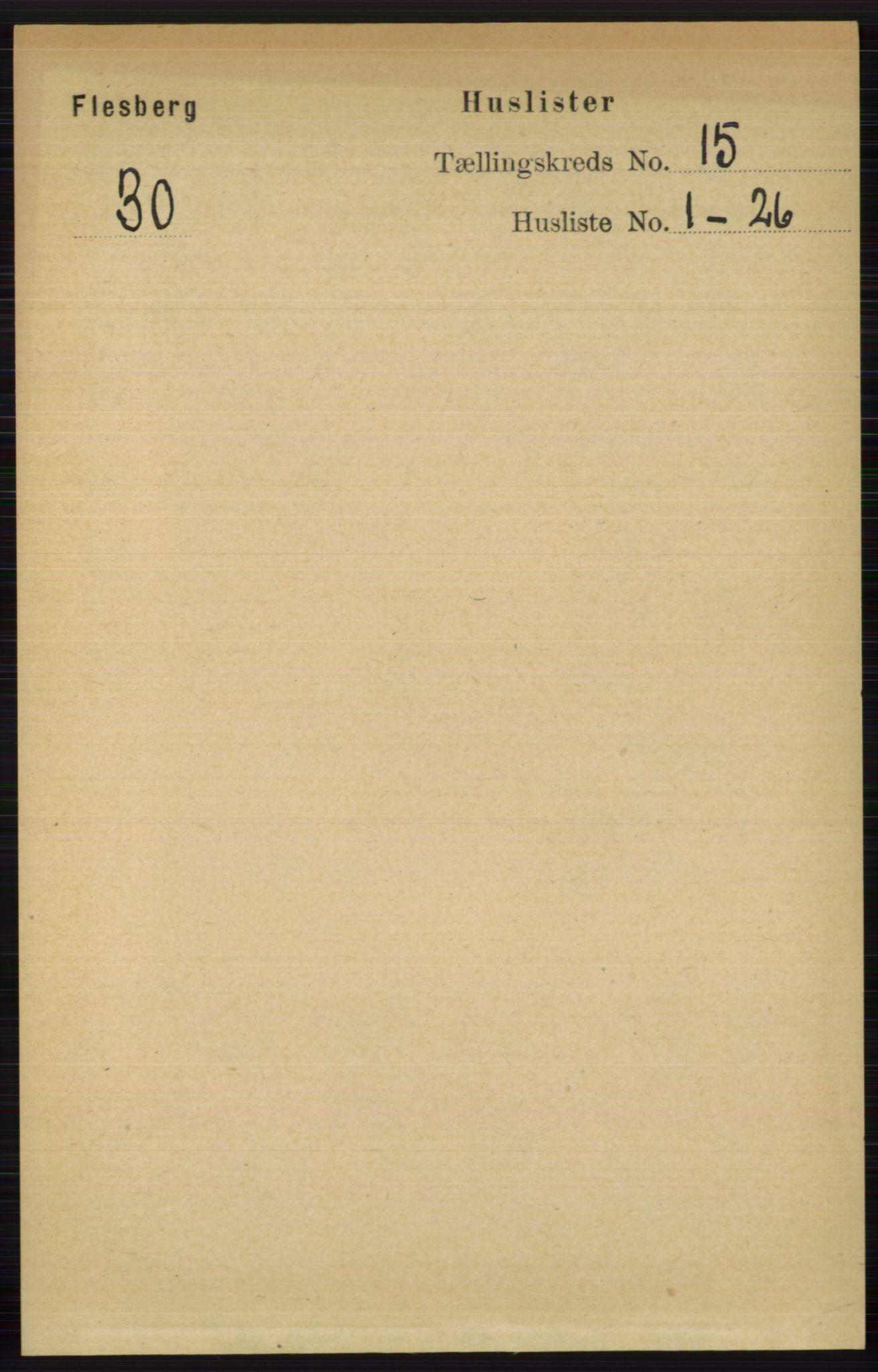RA, Folketelling 1891 for 0631 Flesberg herred, 1891, s. 2664