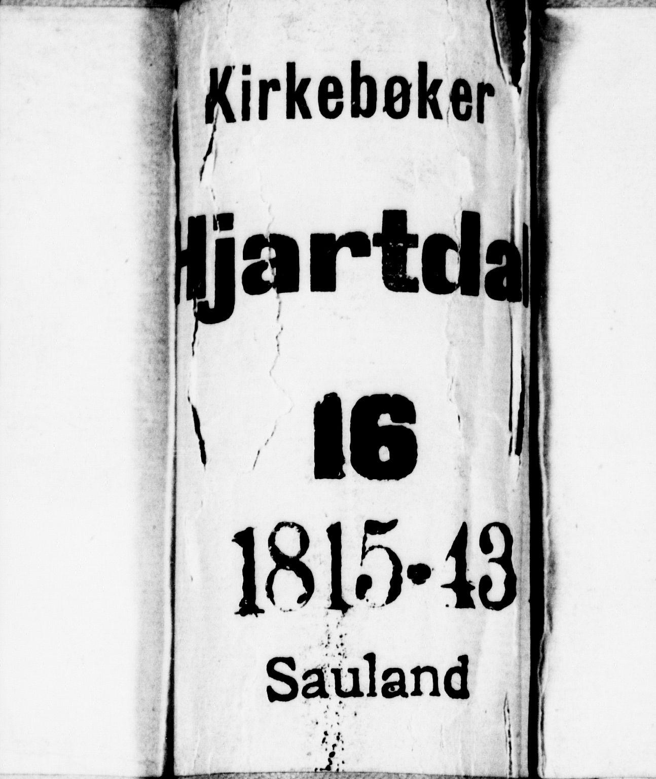 SAKO, Hjartdal kirkebøker, F/Fb/L0001: Ministerialbok nr. II 1, 1815-1843