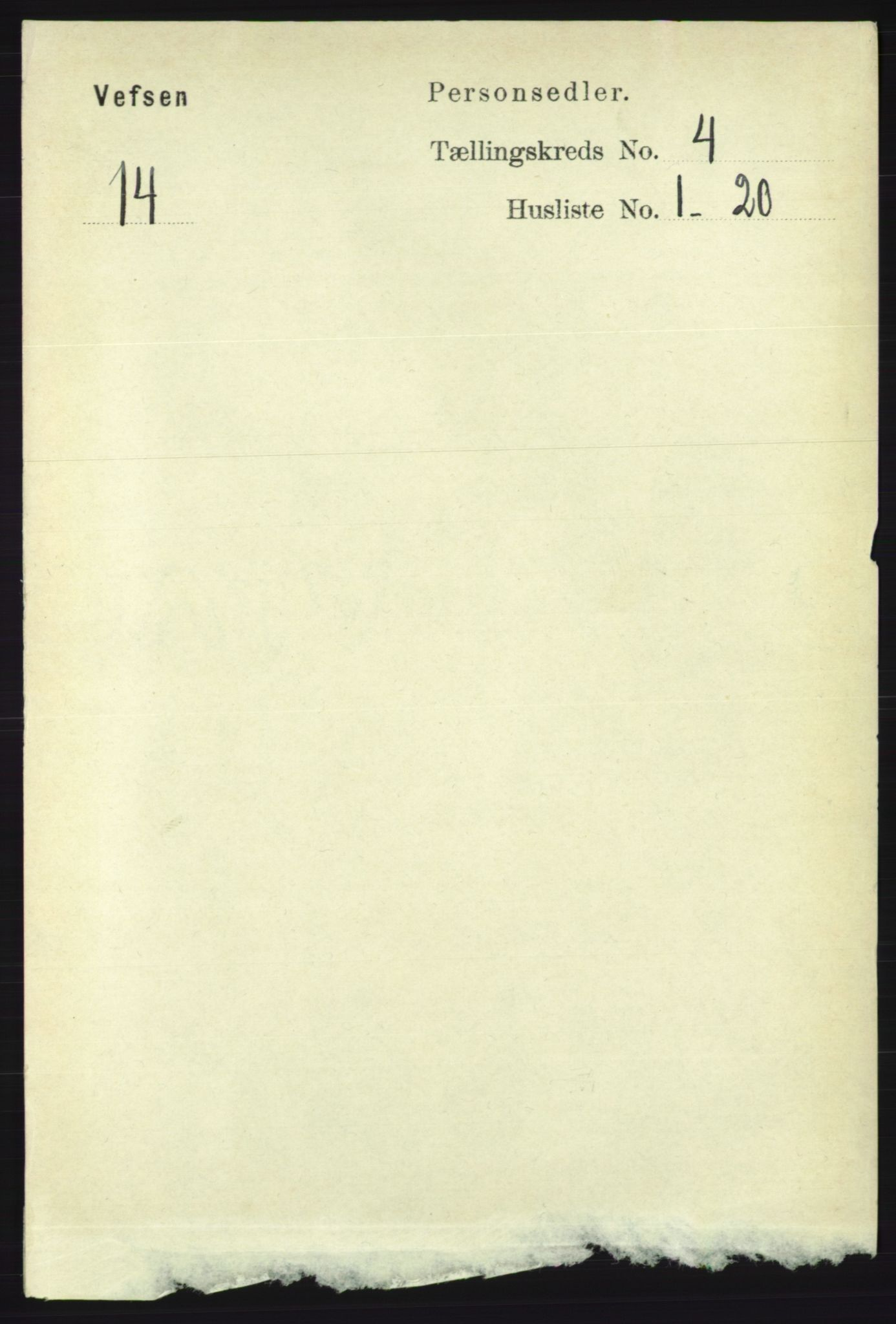 RA, Folketelling 1891 for 1824 Vefsn herred, 1891, s. 1620